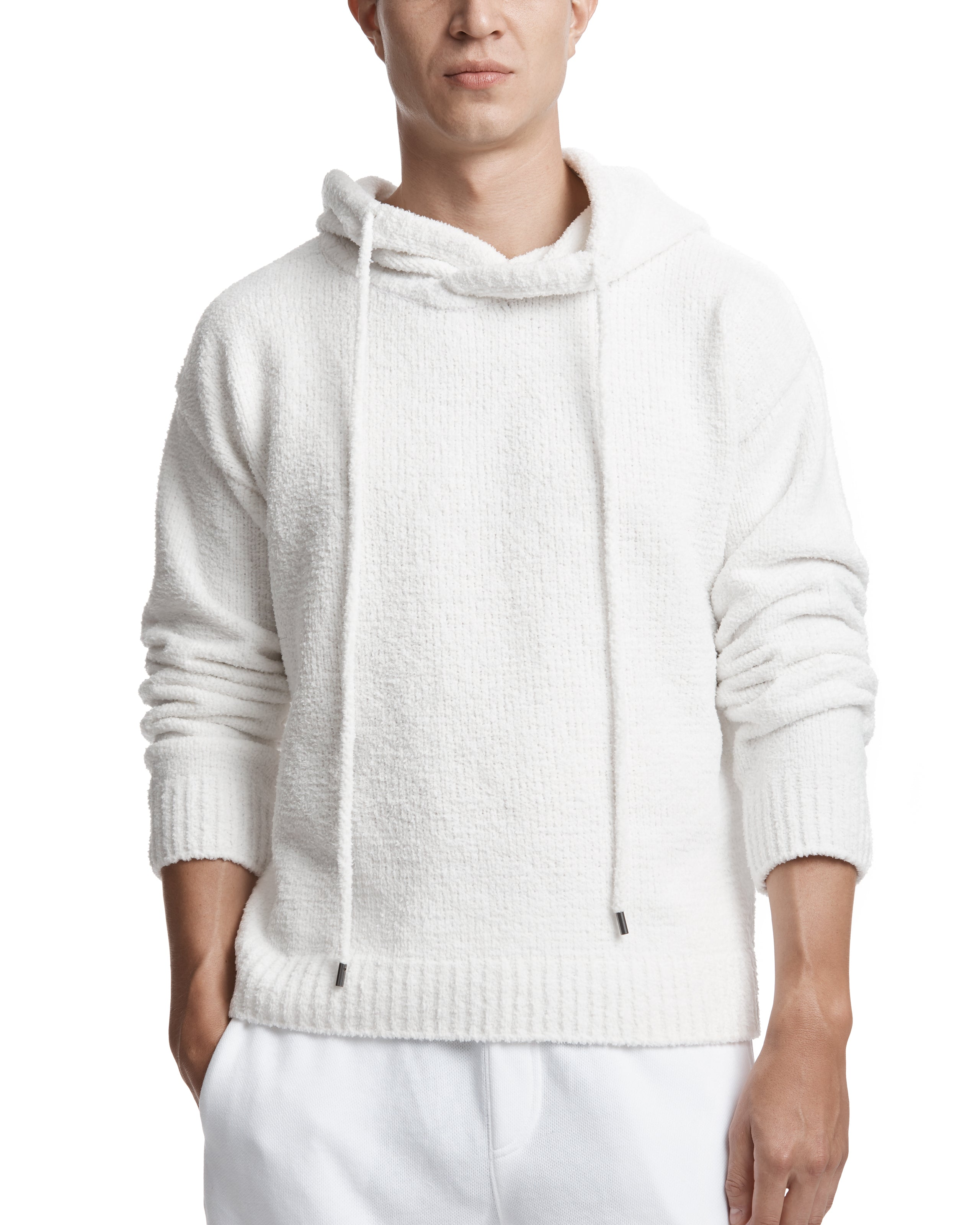 ATM Chenille Hooded Pullover Sweater