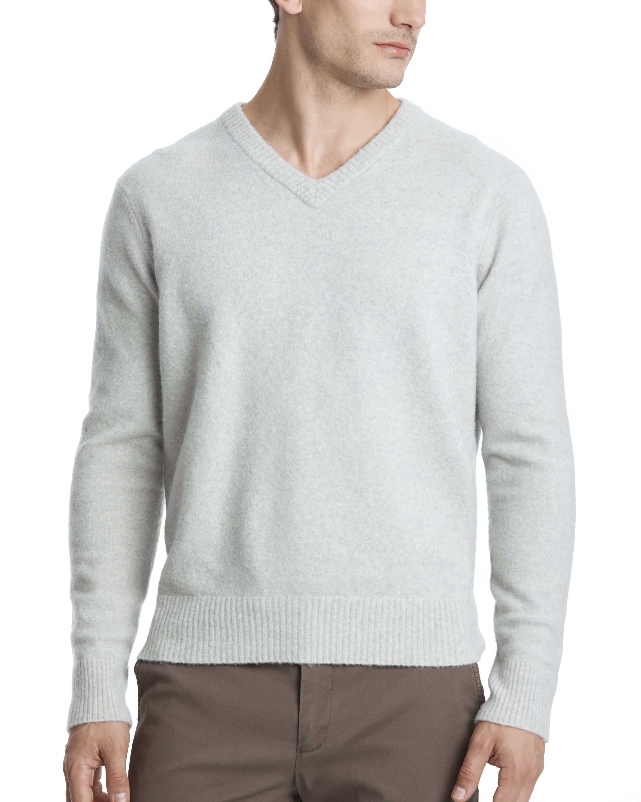 ATM Cashmere Blend V-Neck Sweater