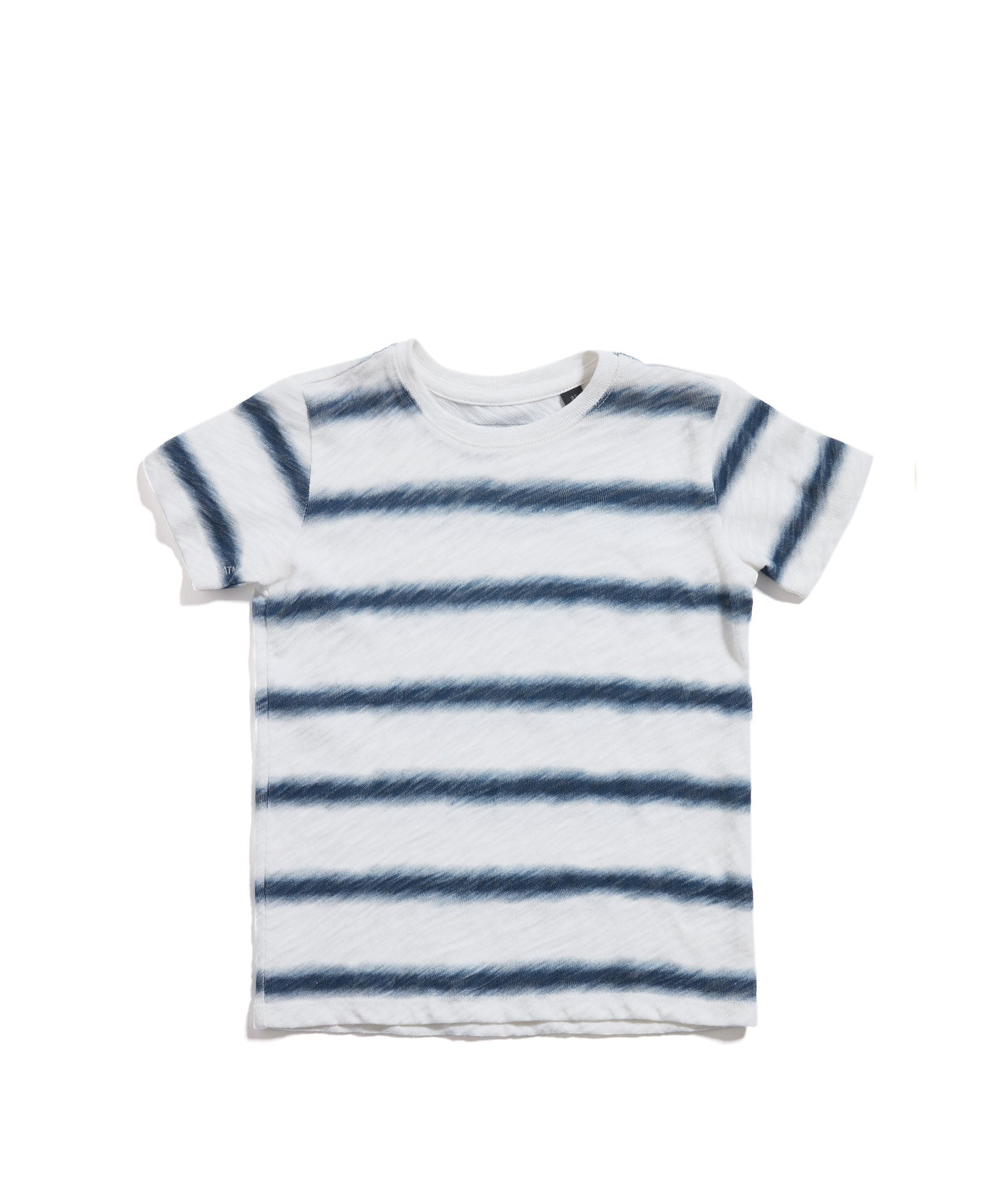 Chalk/ Midnight Stripe Kids Slub Jersey Short Sleeve Tee - Kid's Cotton Short Sleeve Tee by ATM Anthony Thomas Melillo