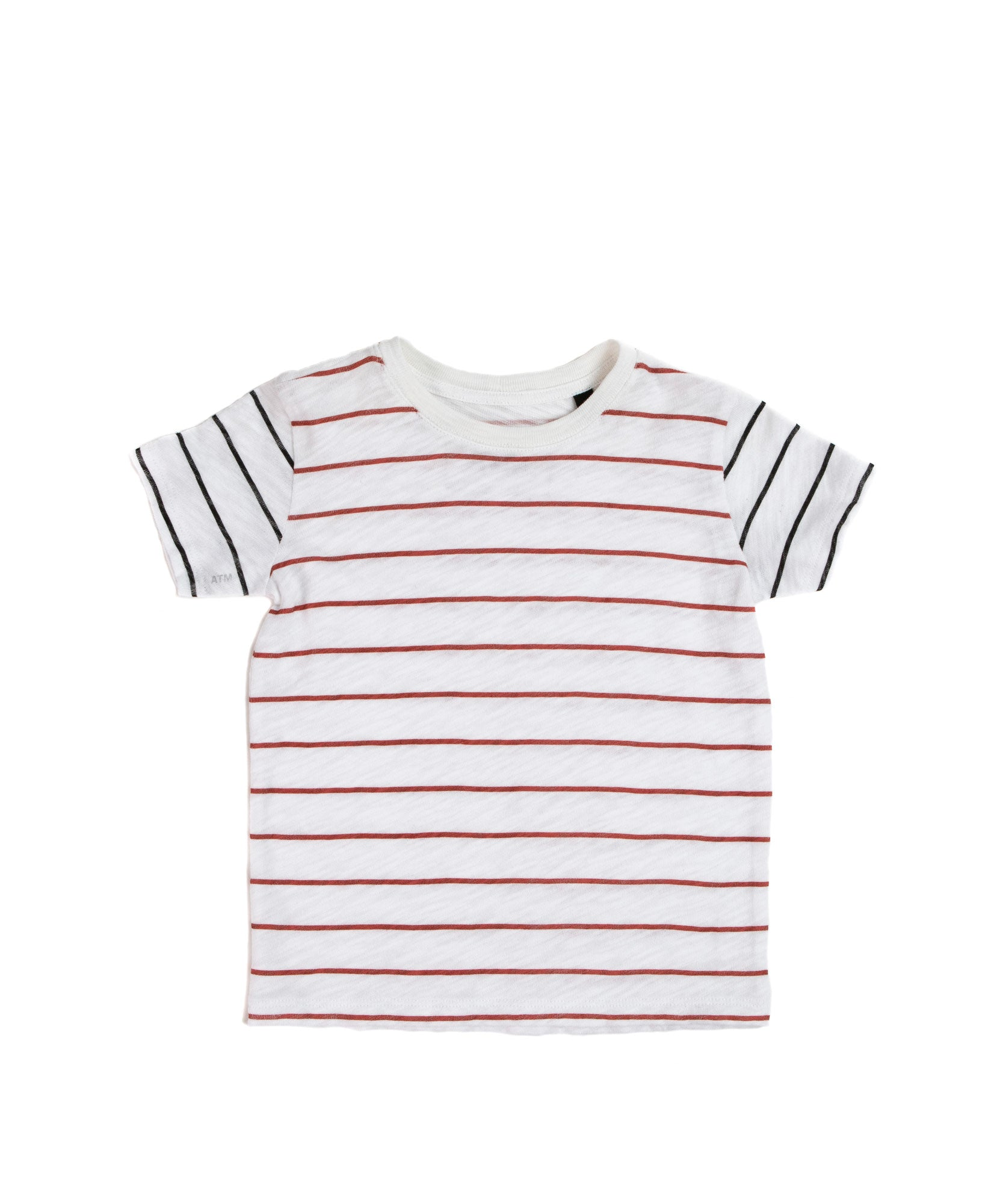 Kids Striped Slub Jersey Short Sleeve Tee - Kid's Cotton Short Sleeve Tee by ATM Anthony Thomas Melillo
