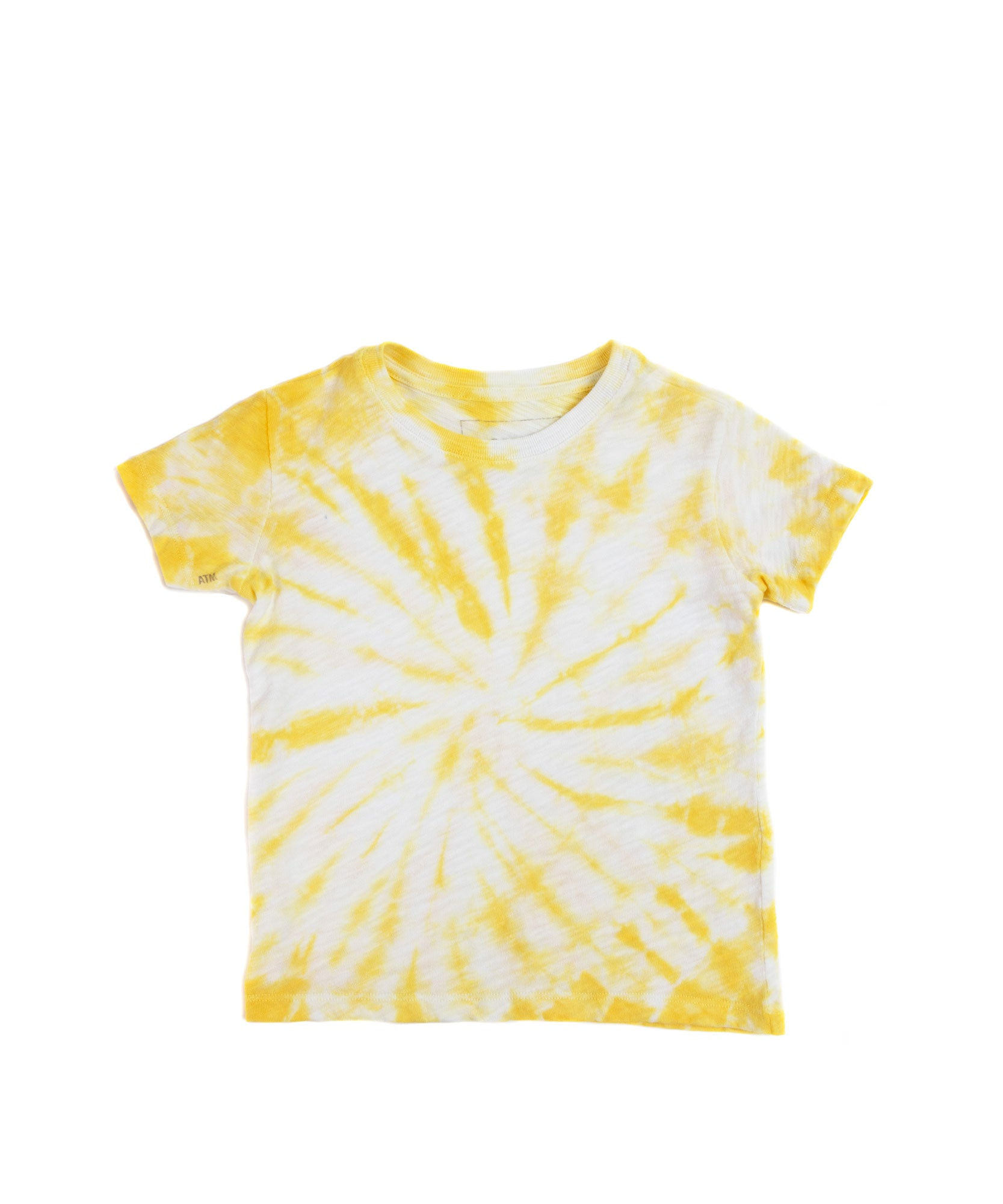 Canary Tie Dye Kids Slub Jersey Short Sleeve Tee - Kid's Cotton Short Sleeve Tee by ATM Anthony Thomas Melillo
