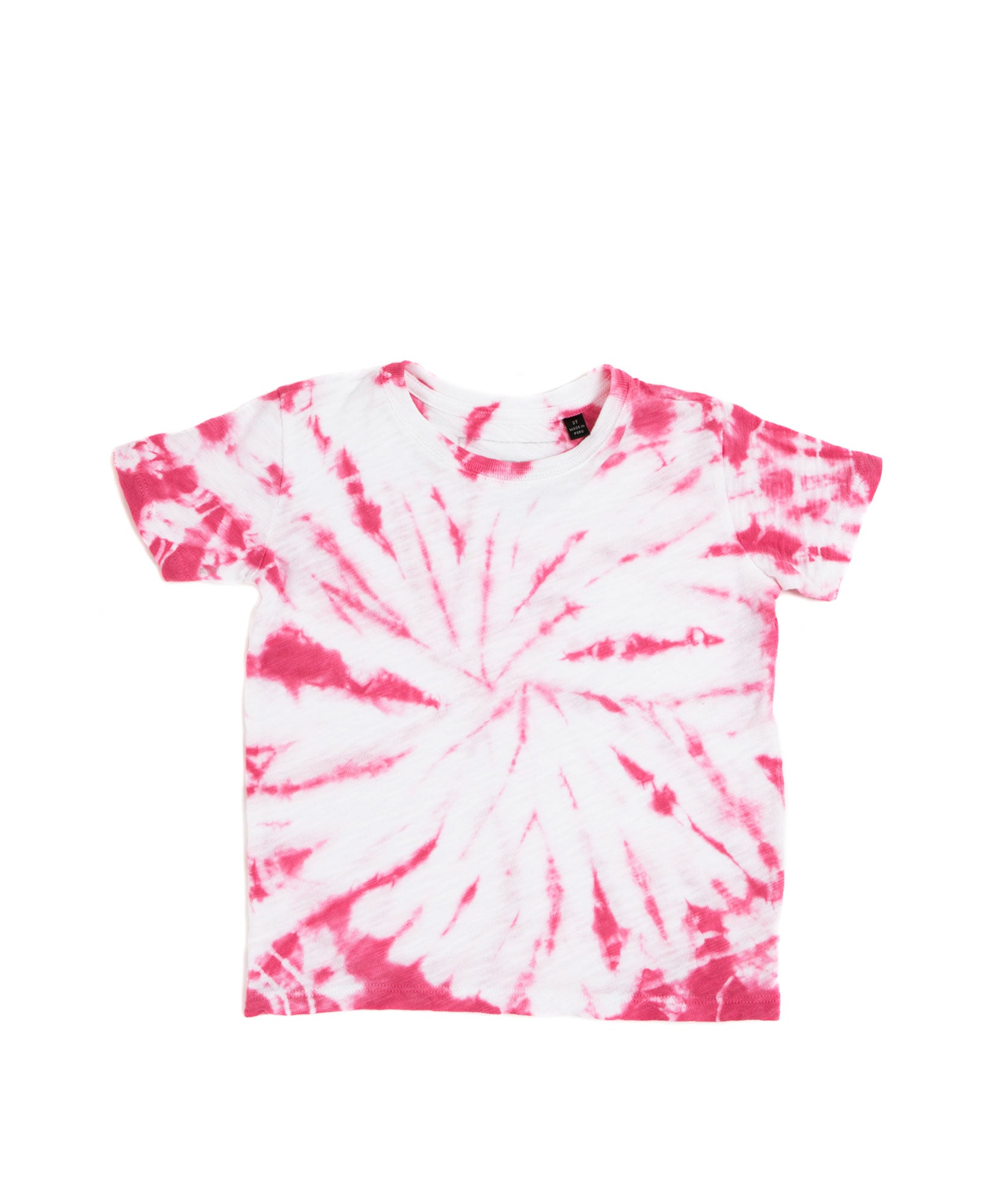 Pink Tie Dye Kids Slub Jersey Short Sleeve Tee - Kid's Cotton Short Sleeve Tee by ATM Anthony Thomas Melillo