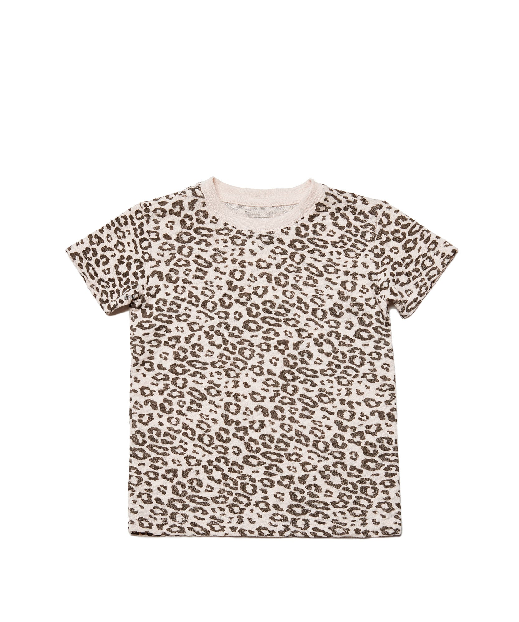 Leopard Kids Slub Jersey Short Sleeve Tee - Kid's Cotton Short Sleeve Tee by ATM Anthony Thomas Melillo