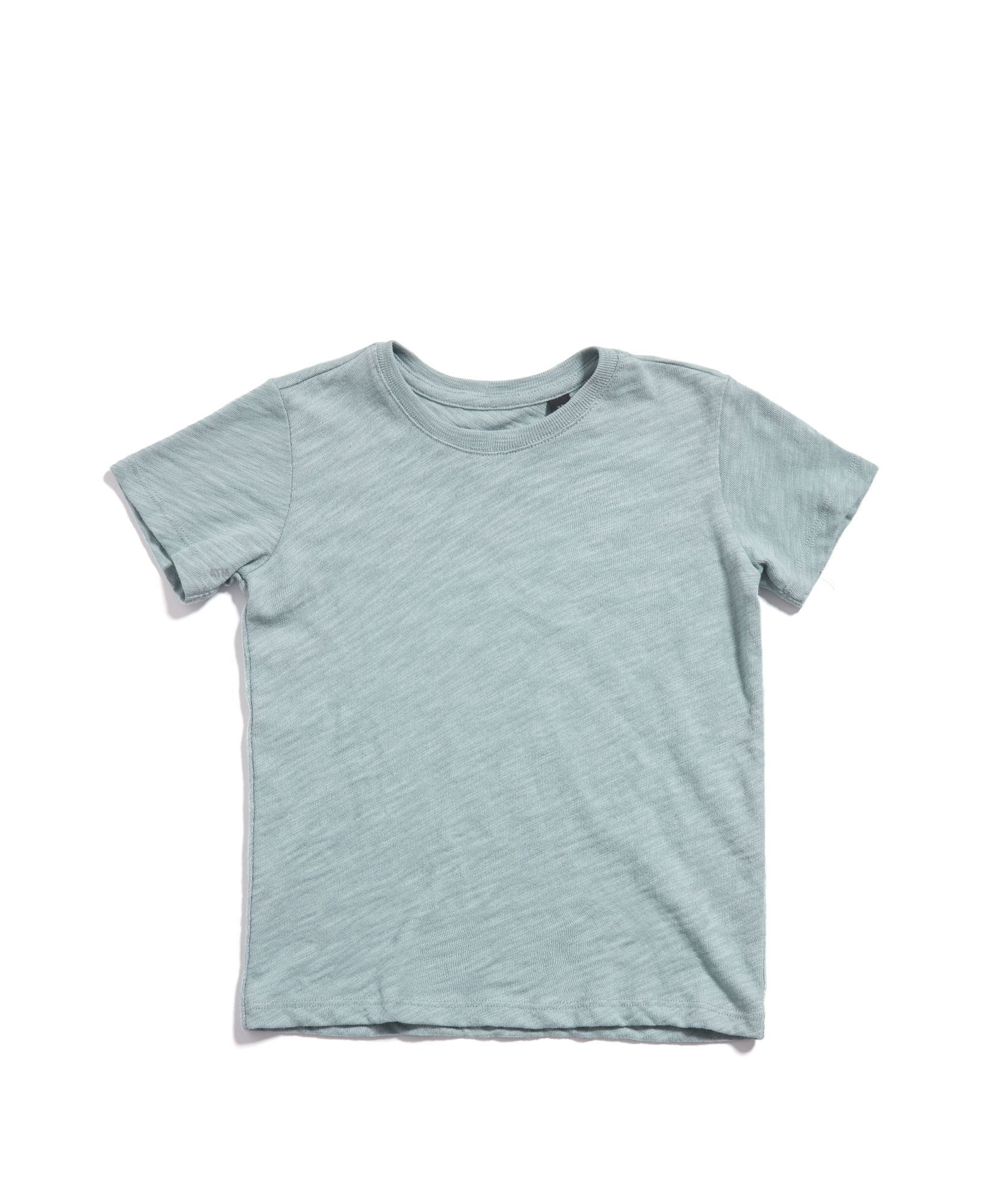 Faded Teal Kids Slub Jersey Short Sleeve Tee - Kid's Cotton Short Sleeve Tee by ATM Anthony Thomas Melillo