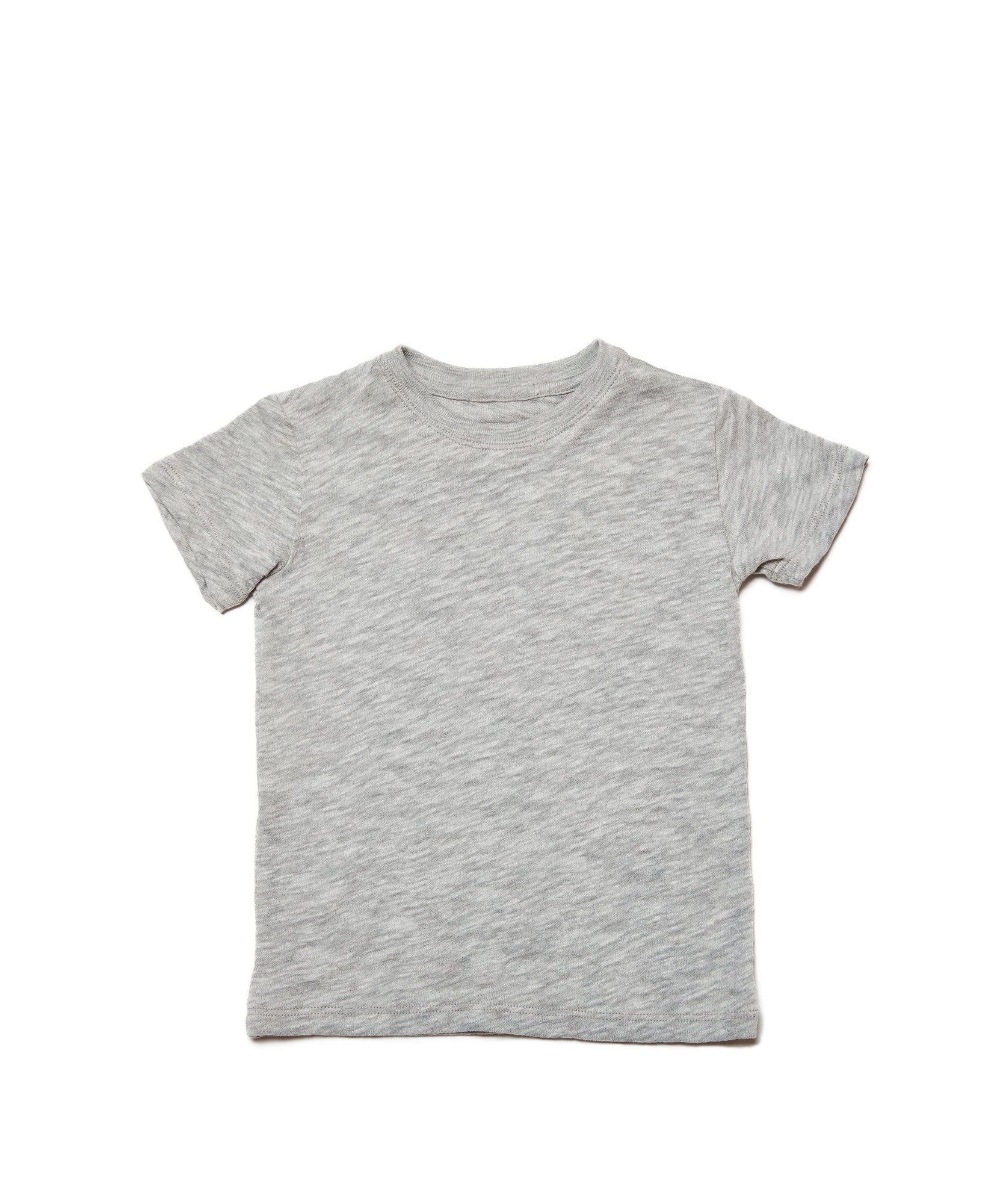 Heather Grey Kids Slub Jersey Short Sleeve Tee - Kid's Cotton Short Sleeve Tee by ATM Anthony Thomas Melillo
