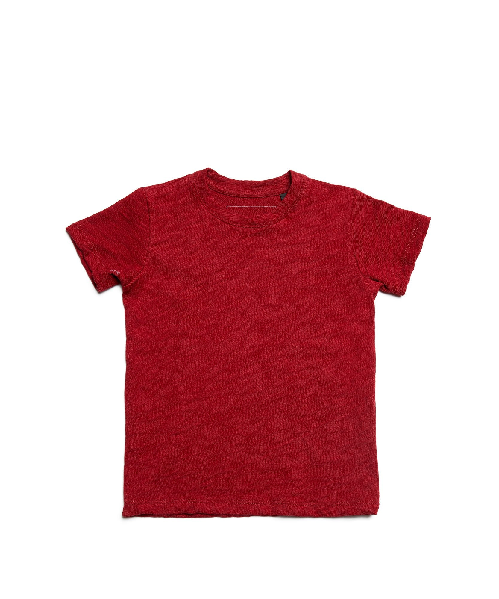 Red Kids Slub Jersey Short Sleeve Tee - Kid's Cotton Short Sleeve Tee by ATM Anthony Thomas Melillo