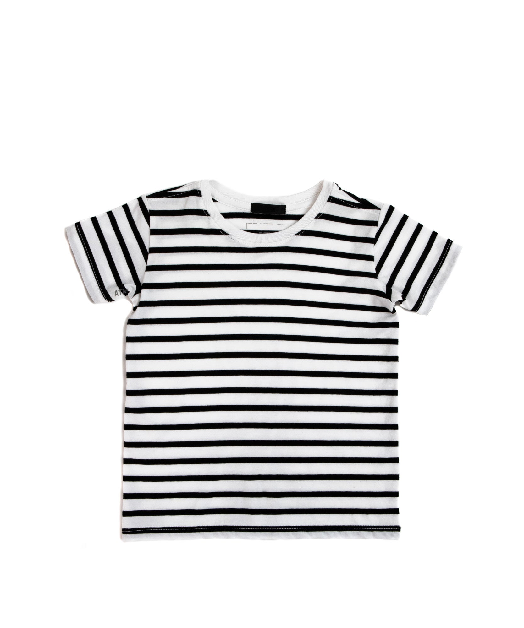 Kids Classic Jersey Short Sleeve Tee - Black/ White Stripe