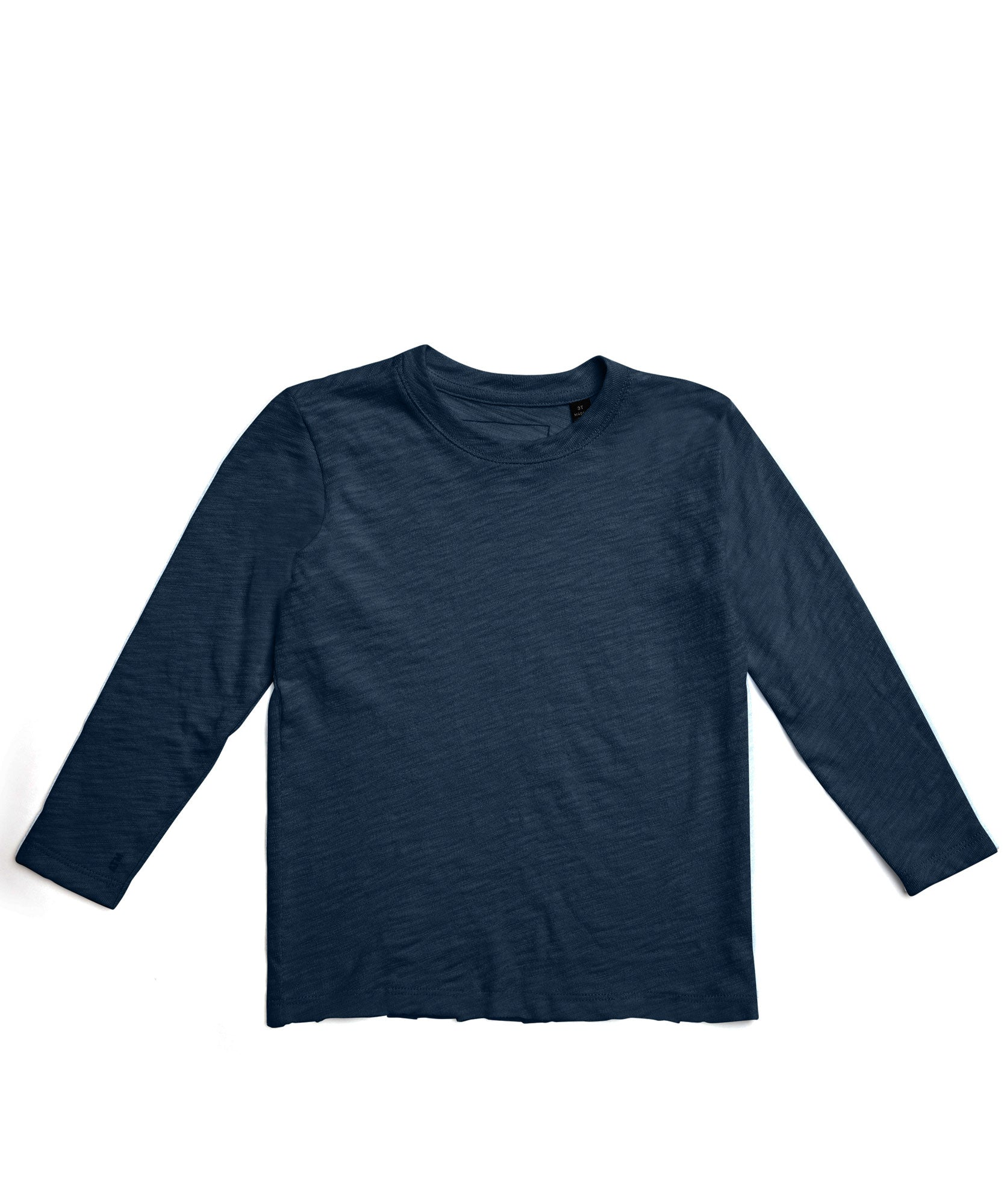Deep Ocean Kids Slub Jersey Long Sleeve Tee - Kid's Cotton Long Sleeve Tee by ATM Anthony Thomas Melillo