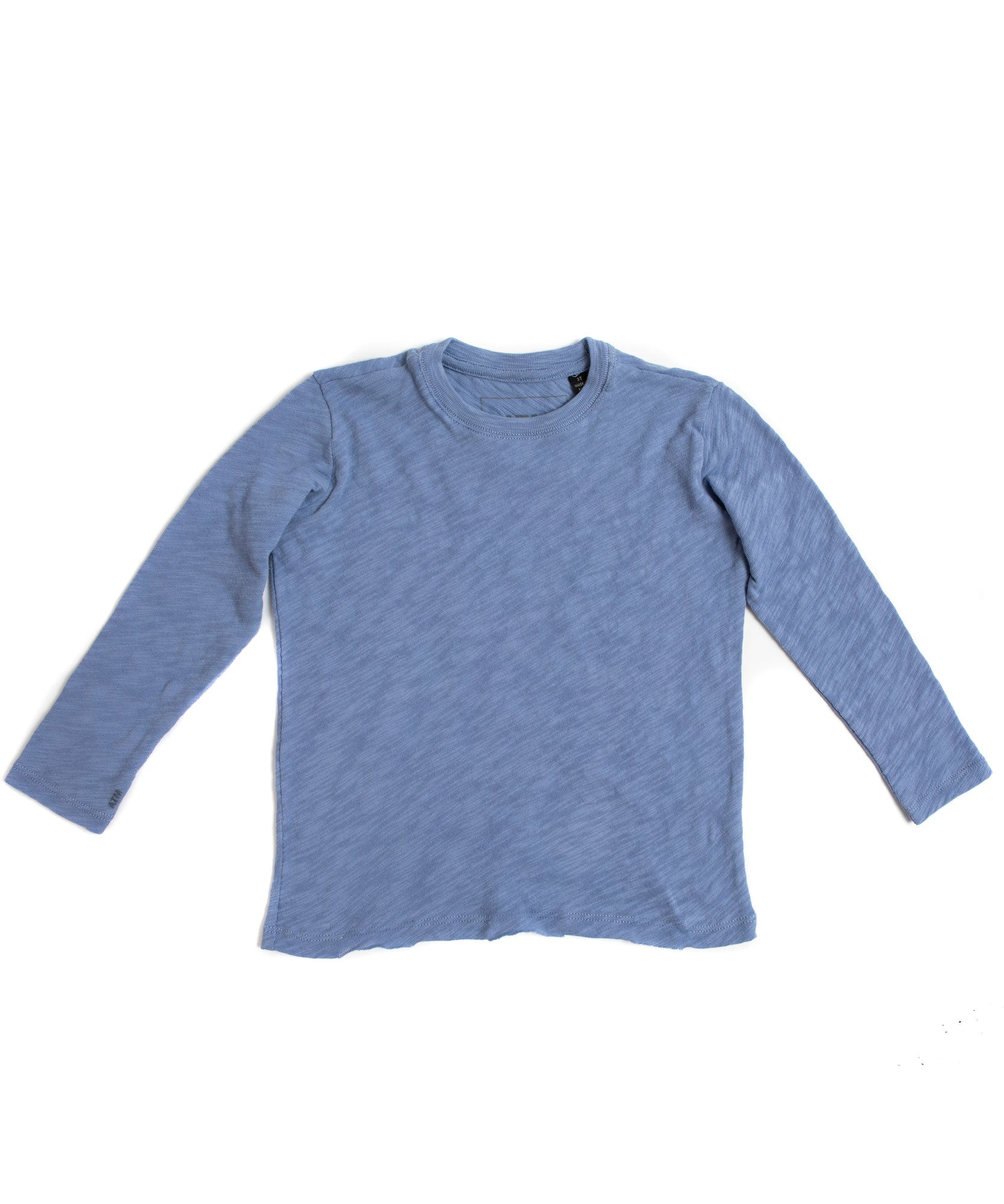 English Blue Kids Slub Jersey Long Sleeve Tee -  Kid's Cotton Long Sleeve Tee by ATM Anthony Thomas Melillo