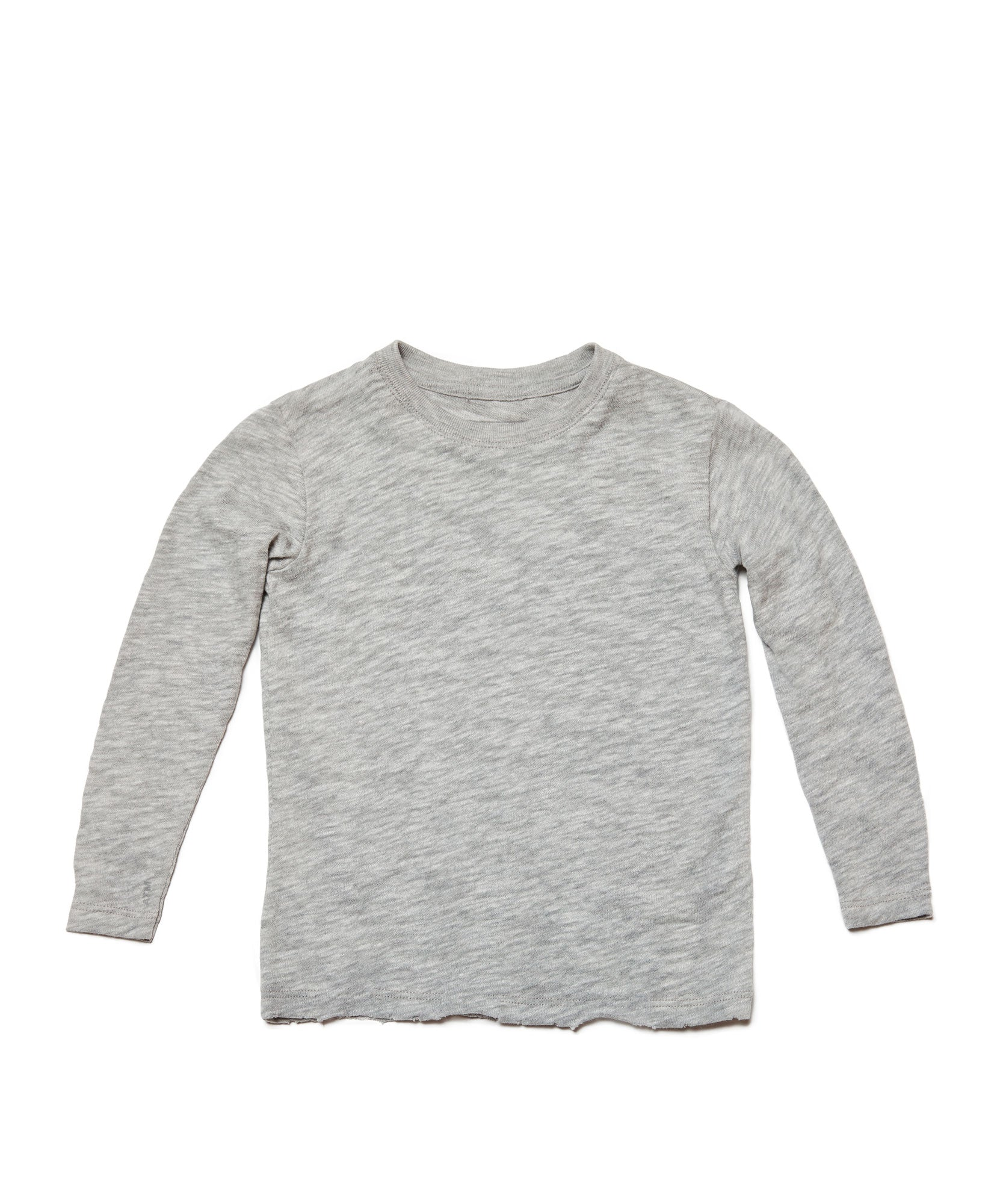 Heather Grey Kids Slub Jersey Long Sleeve Tee - Kid's Cotton Long Sleeve Tee by ATM Anthony Thomas Melillo