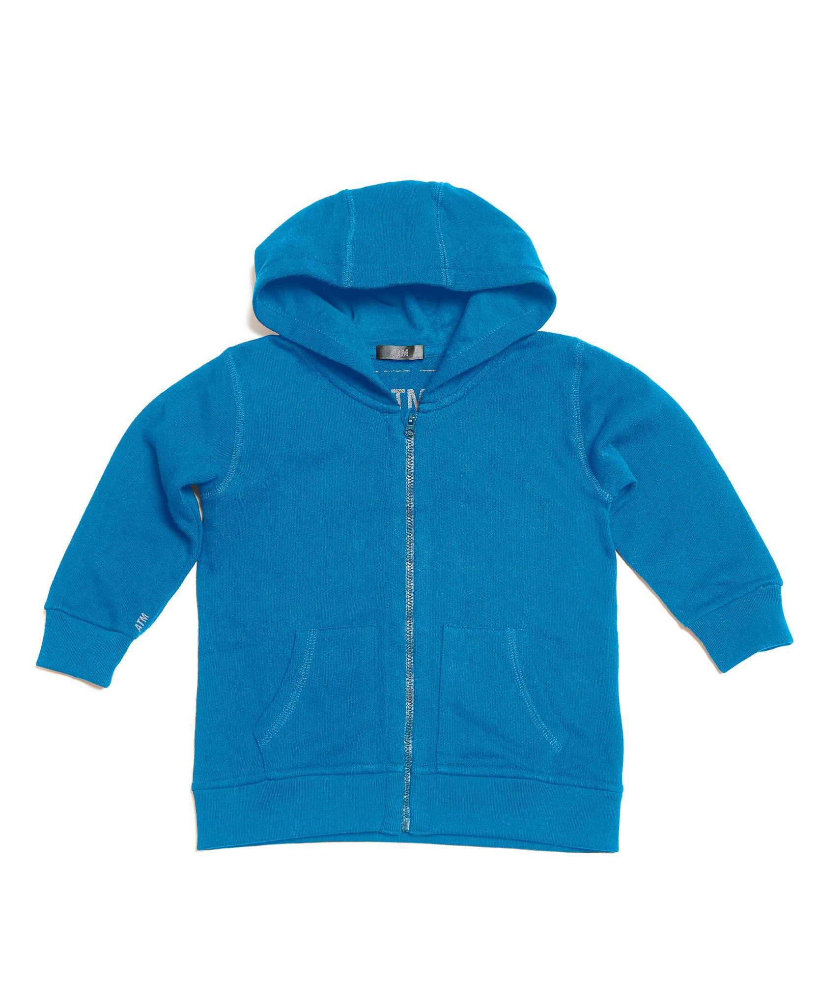 Cobalt Kids French Terry Zip-Up Hoodie - Kid's Cotton Hoodie Tee by ATM Anthony Thomas Melillo