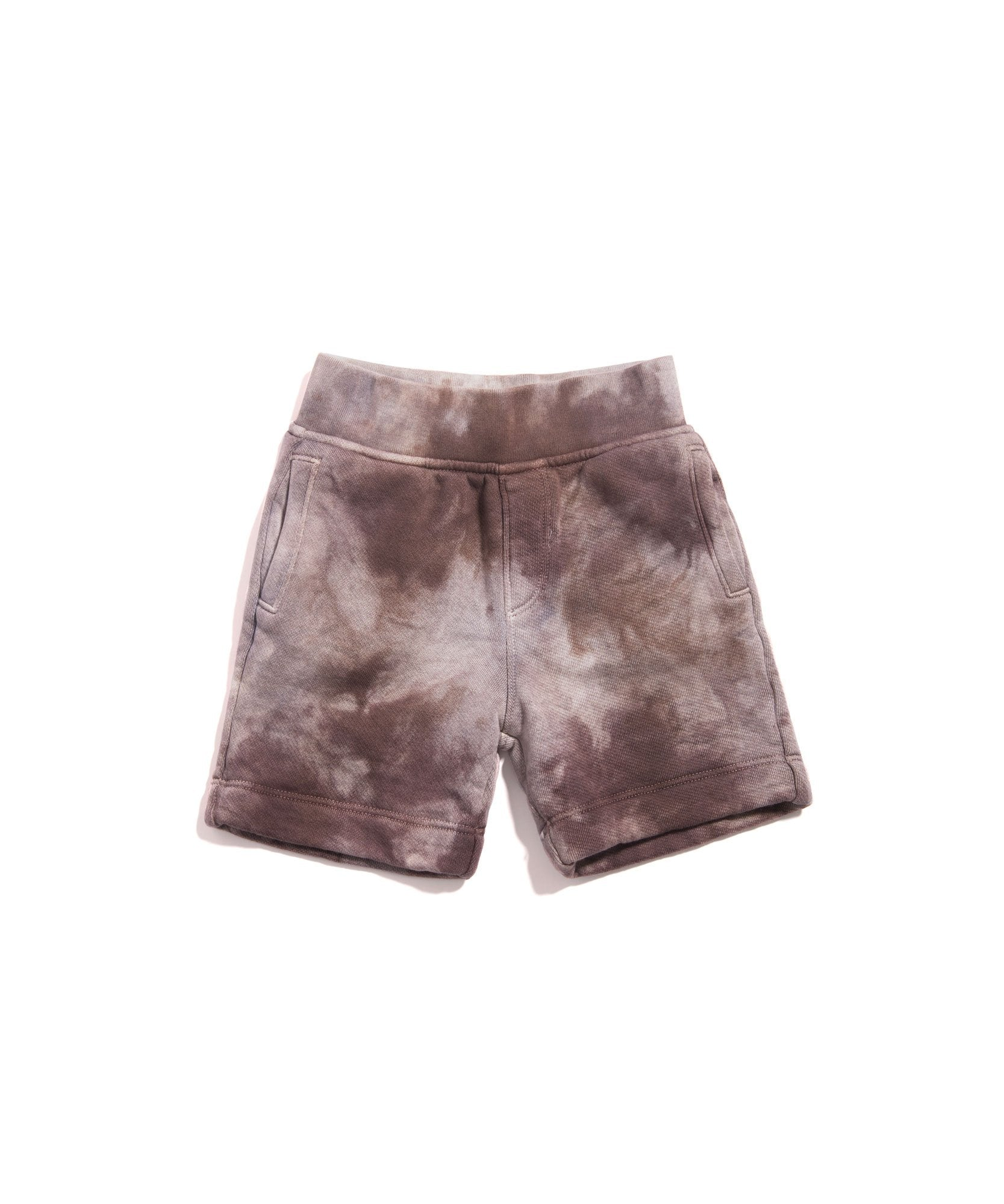 Mushroom Tie Dye Kids French Terry Shorts - Kid's Cotton Shorts by ATM Anthony Thomas Melillo