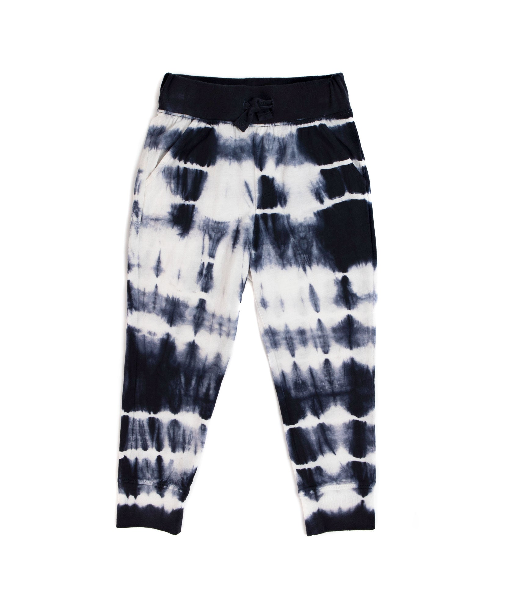 Deep Navy Tie Dye Jersey Pull-On Sweatpants - Kid's Cotton Sweatpants by ATM Anthony Thomas Melillo
