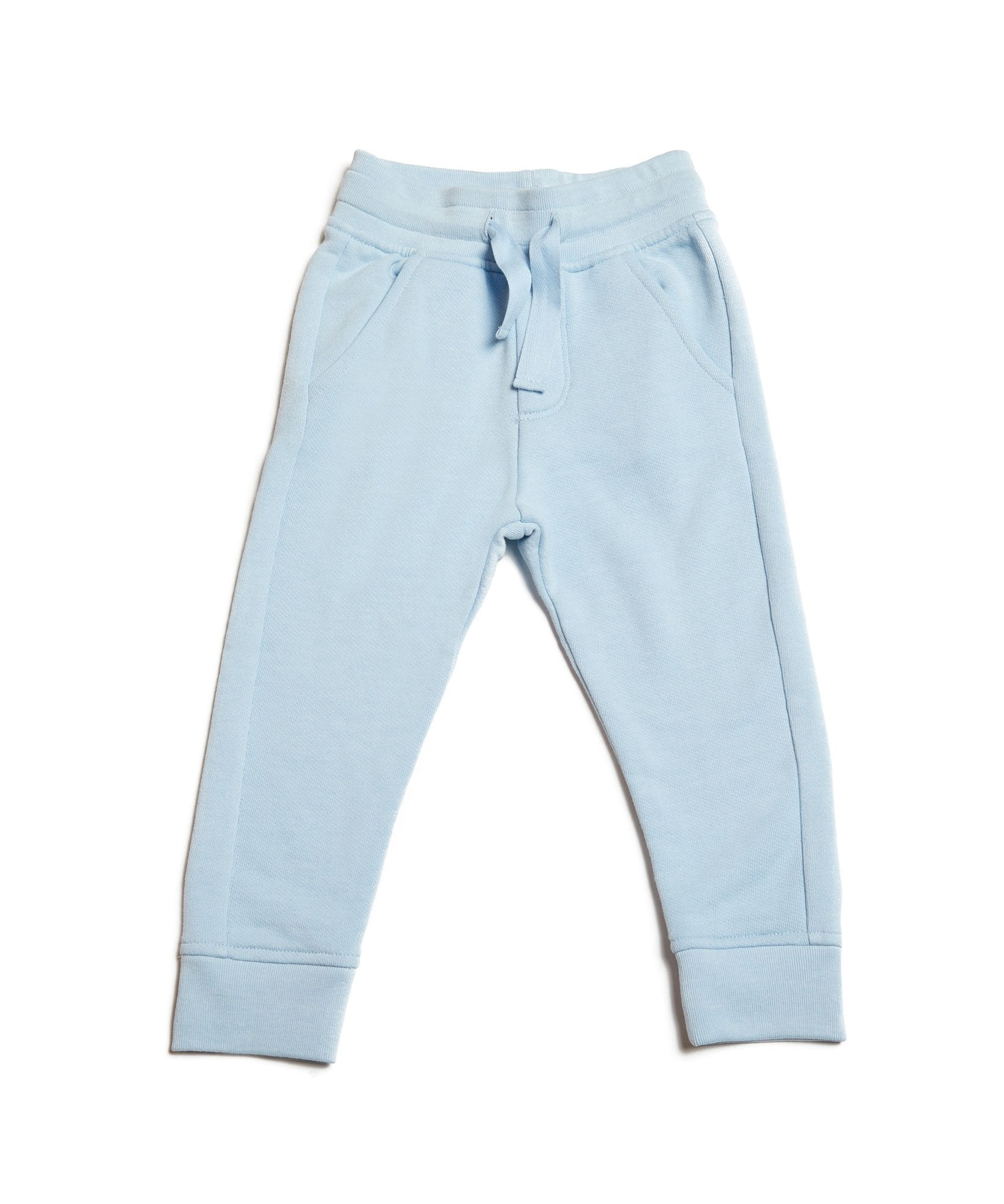 Powder Blue Kids French Terry Sweatpants - Kid's Cotton Sweatpants by ATM Anthony Thomas Melillo