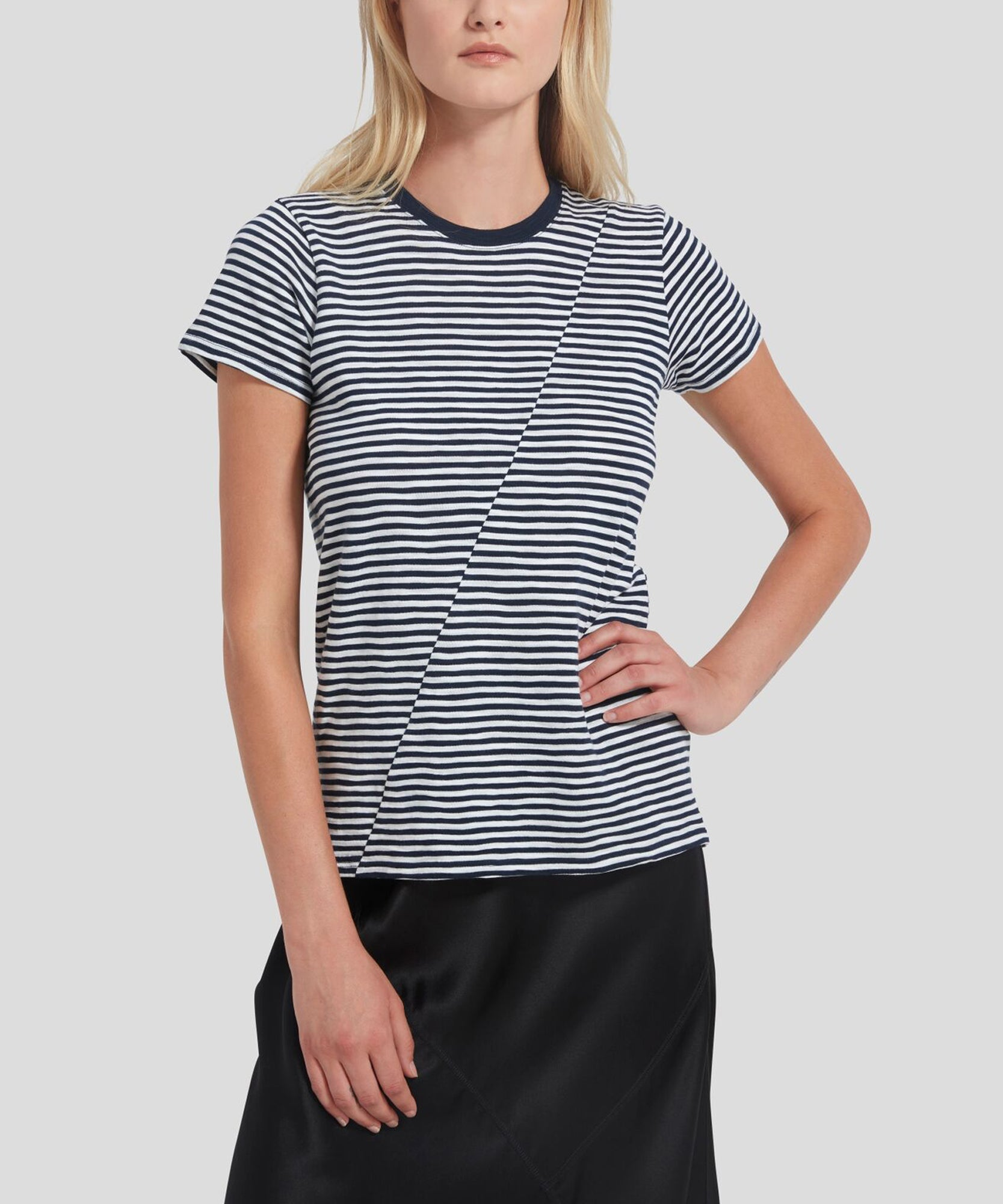 ATM Striped Jersey Short Sleeve Tee