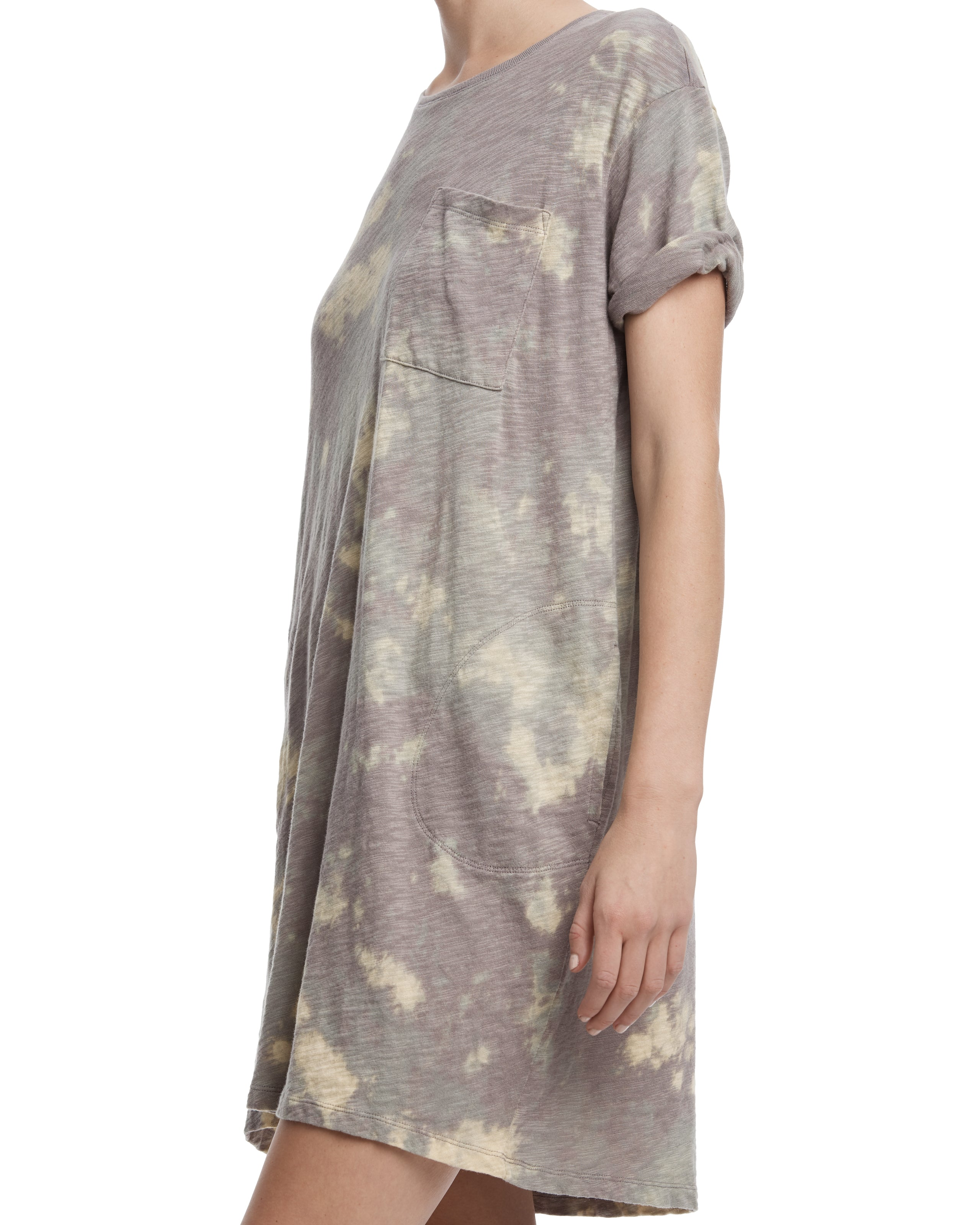 ATM Tie Dye Slub Jersey Boyfriend Dress