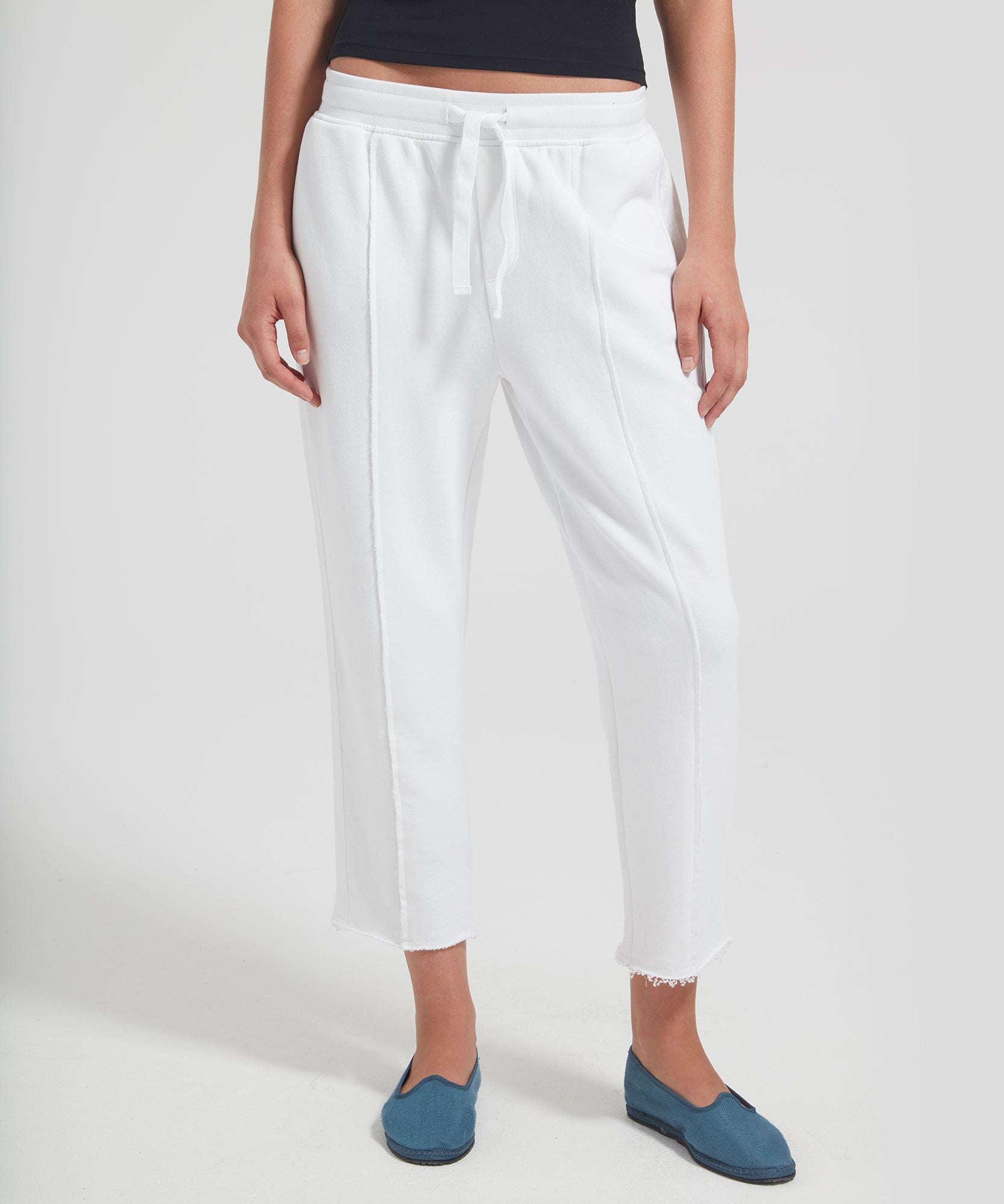 ATM French Terry Pull-On Cropped Pants