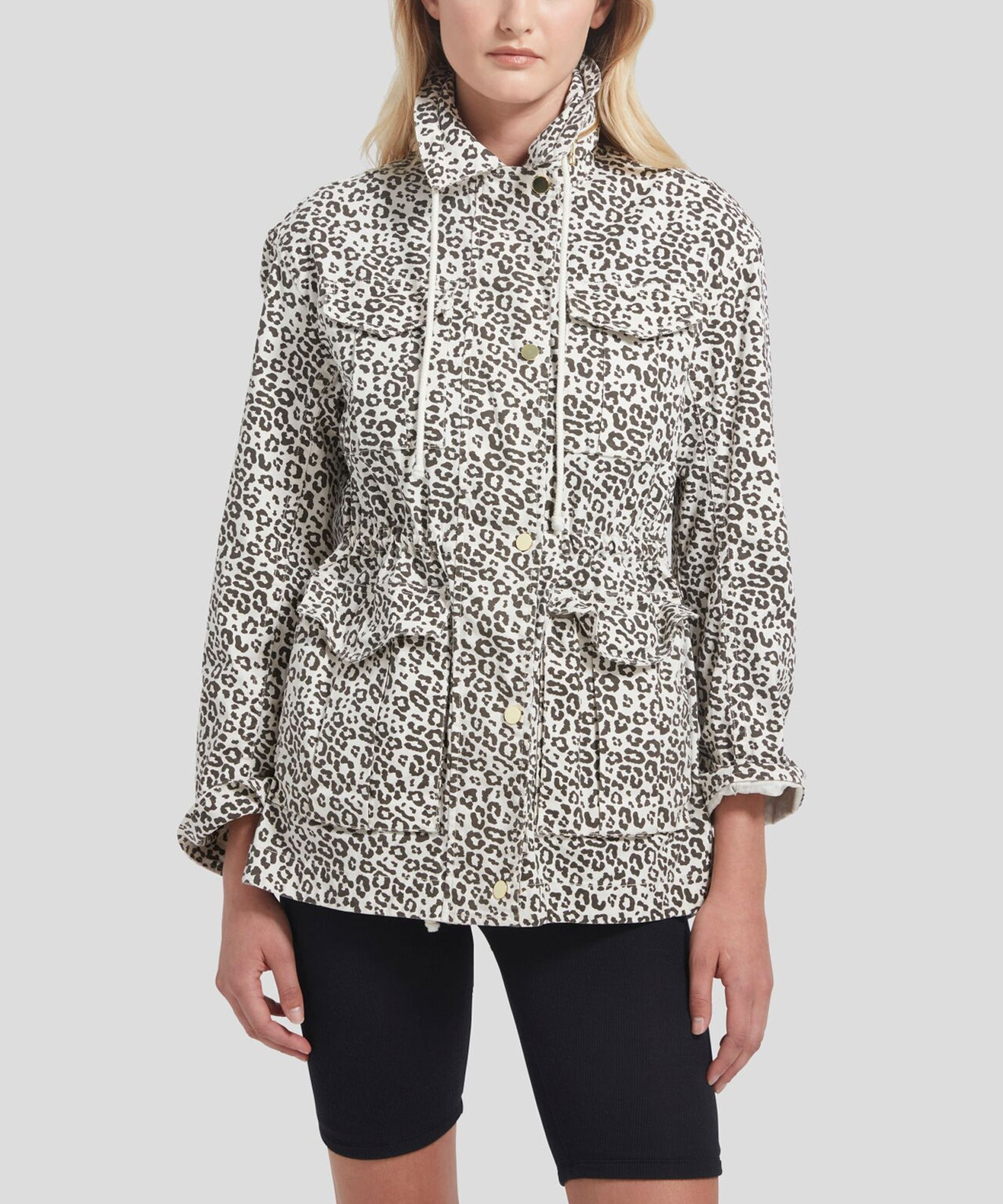 Lunar Leopard Field Jacket - Women's Luxe Jacket by ATM Anthony Thomas Melillo