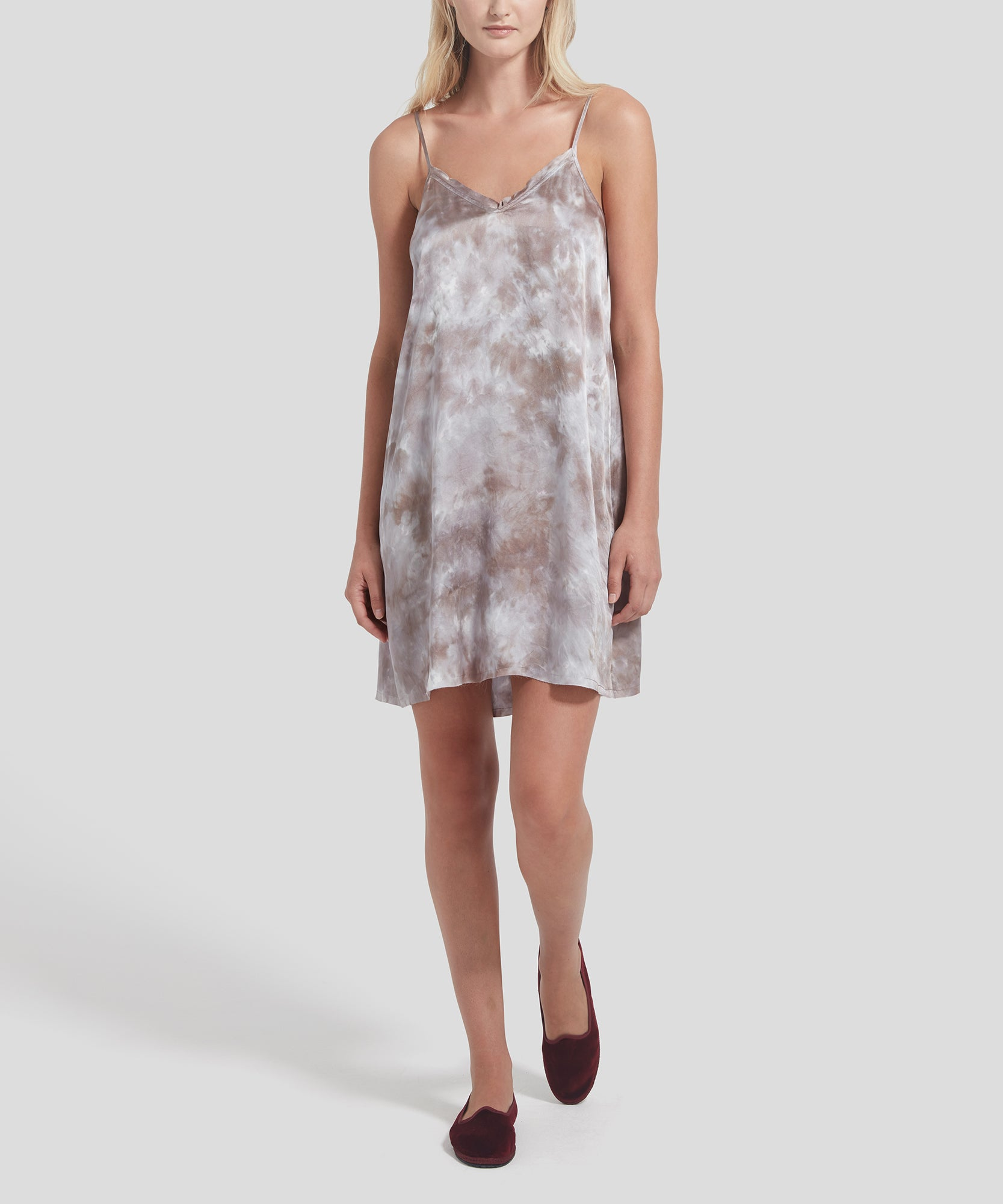 ATM Tie Dye Silk Slip Dress