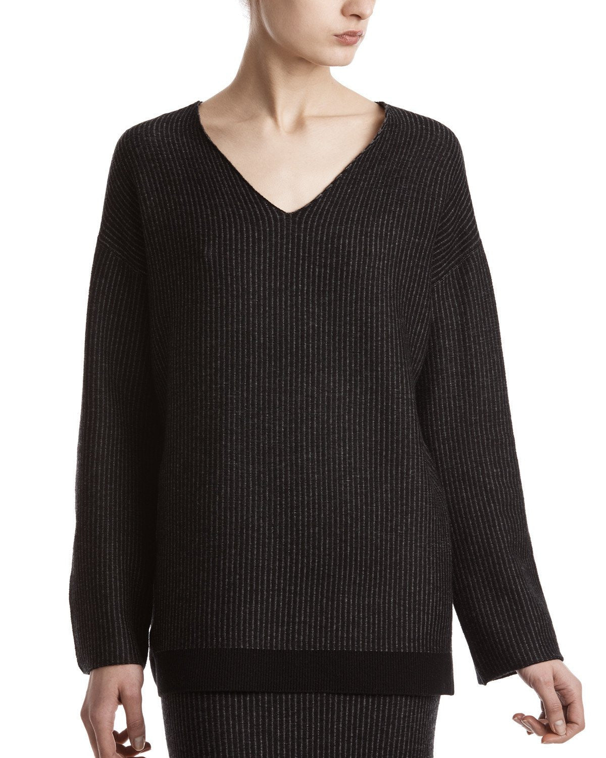 ATM Plated V-Neck Sweater