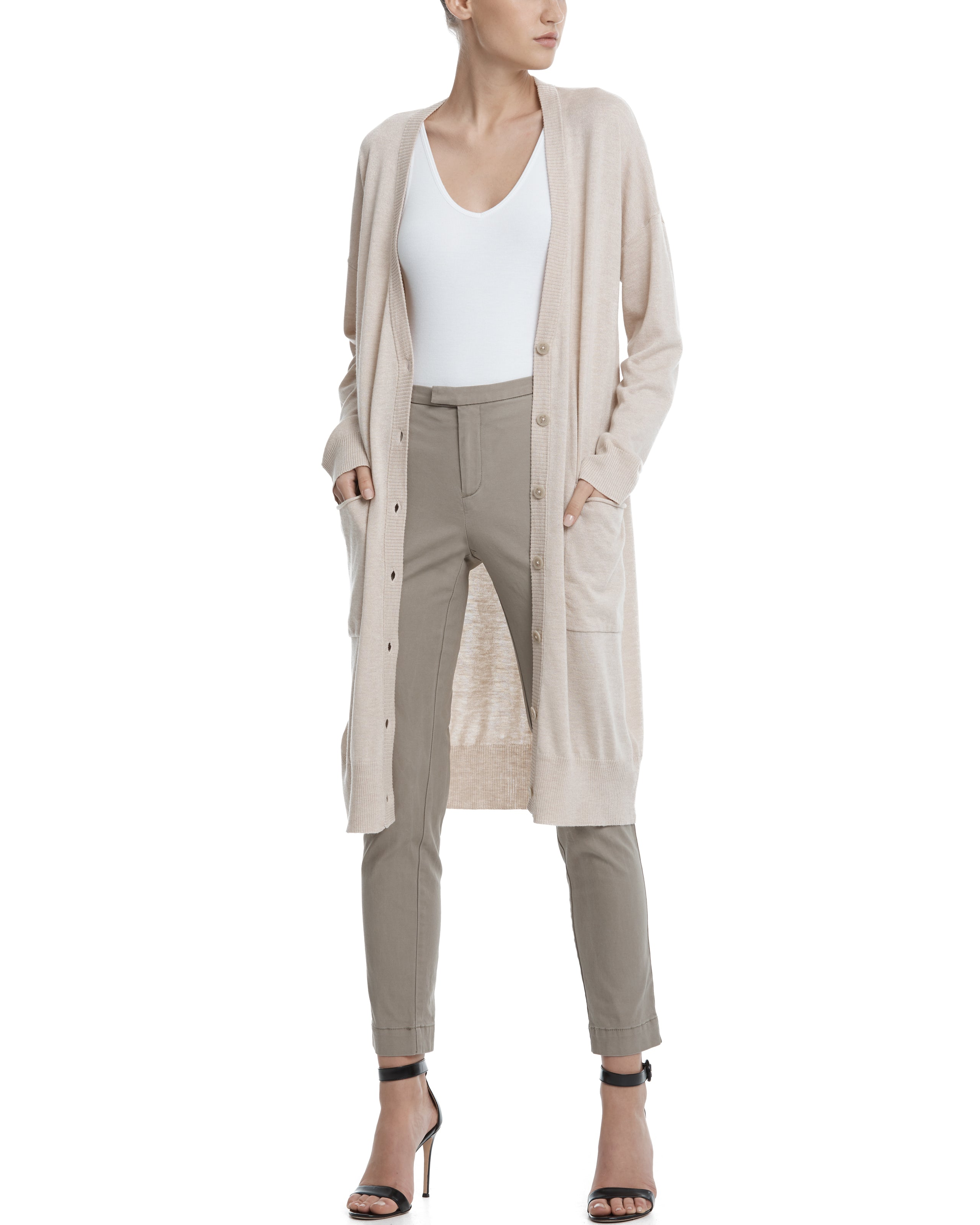 ATM Silk Cashmere Long Cardigan
