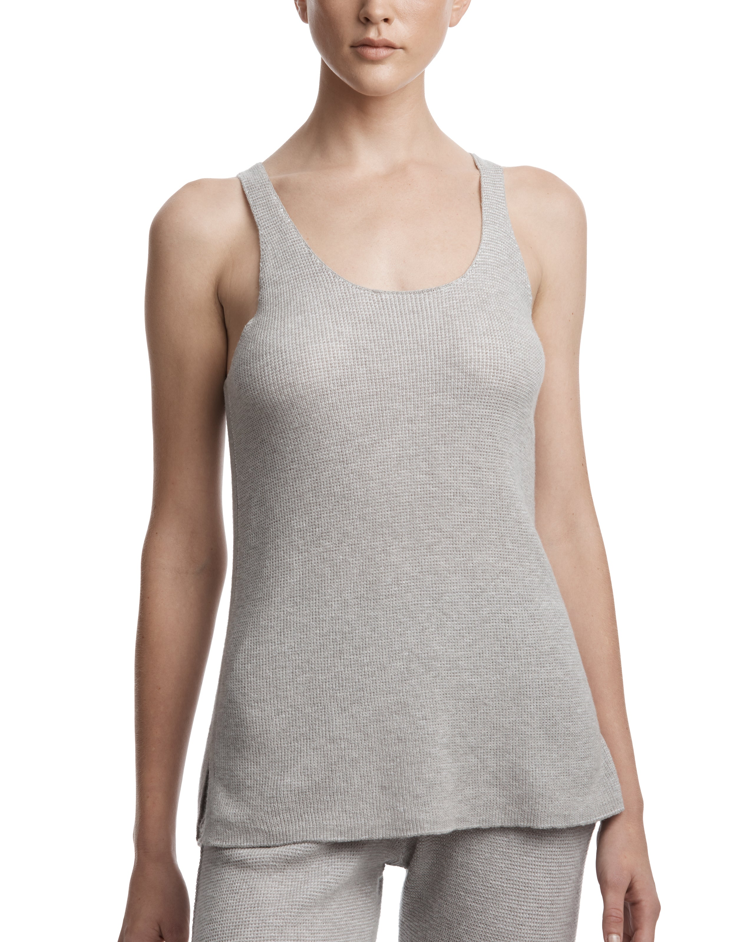 ATM Thermal Scoop Neck Sweater Tank
