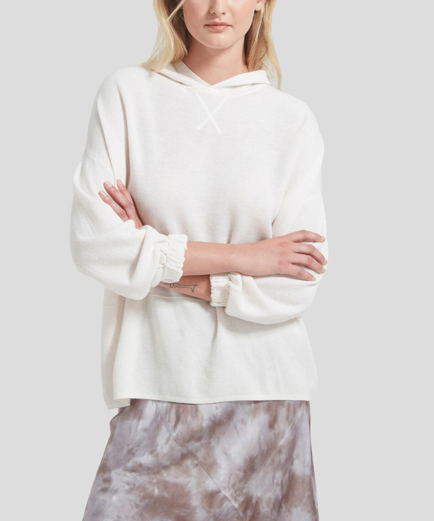 ATM Cashmere Blend Hooded Sweatshirt