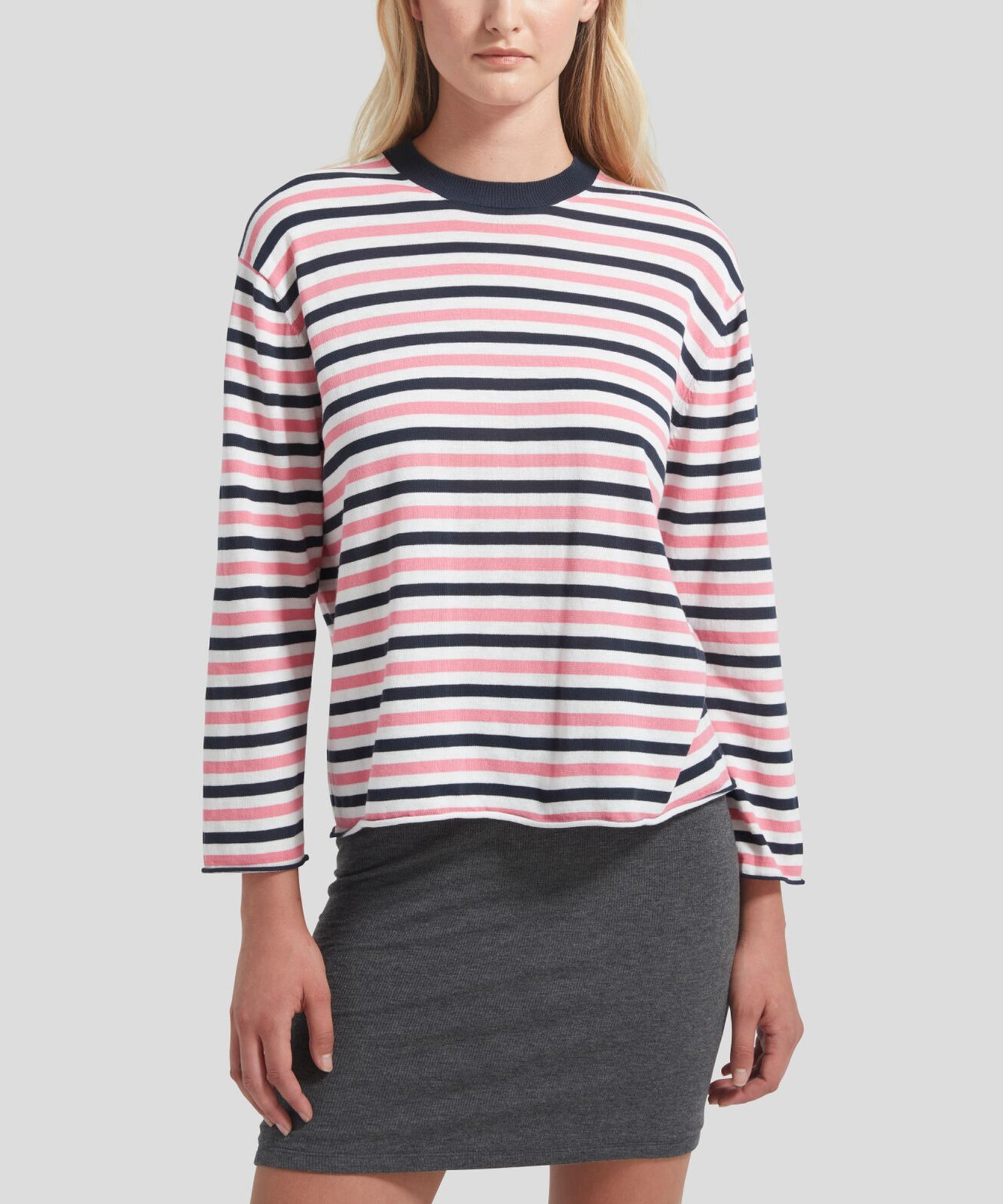 ATM Striped Long Sleeve Sweater