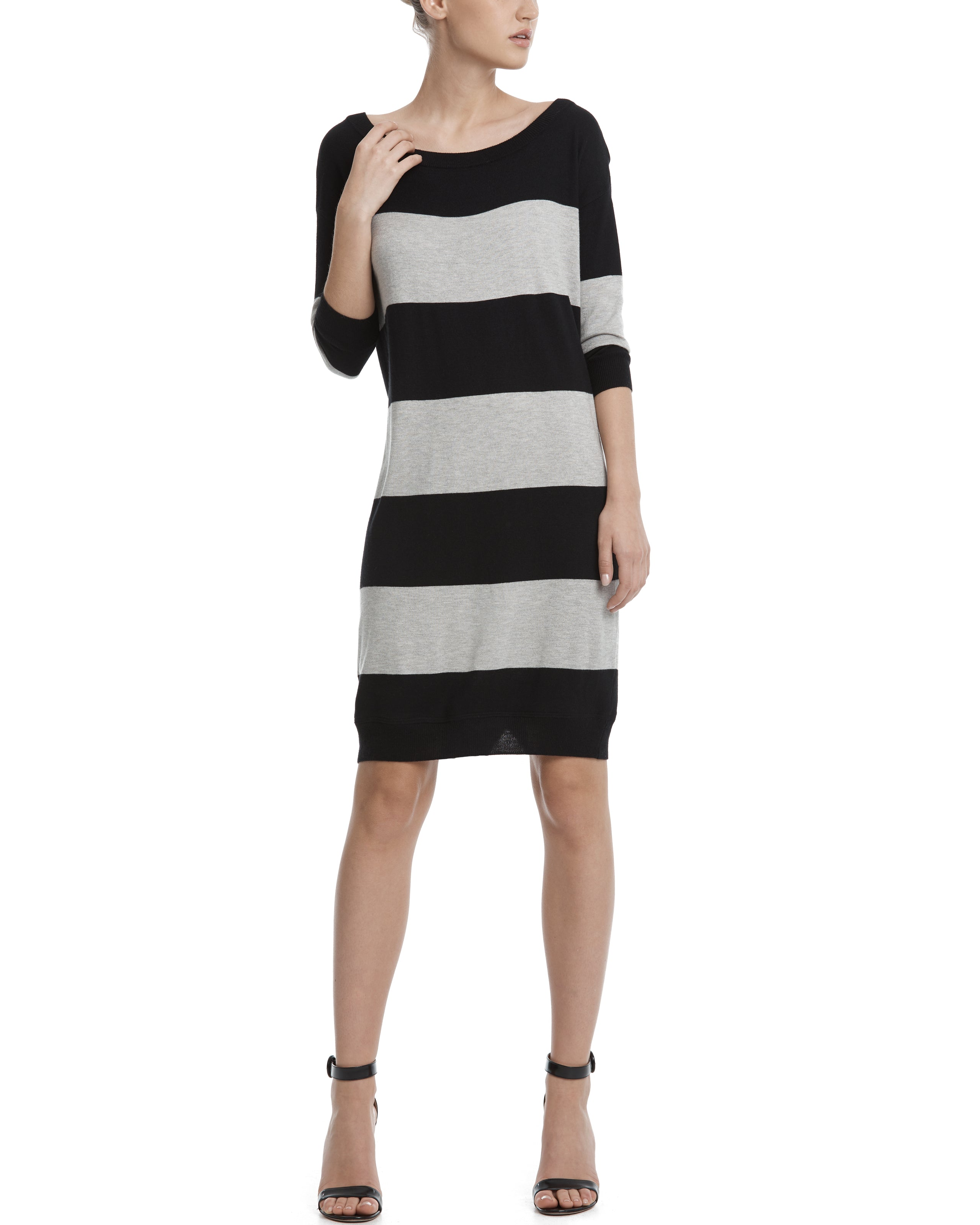 ATM Rugby Stripe Sweater Dress