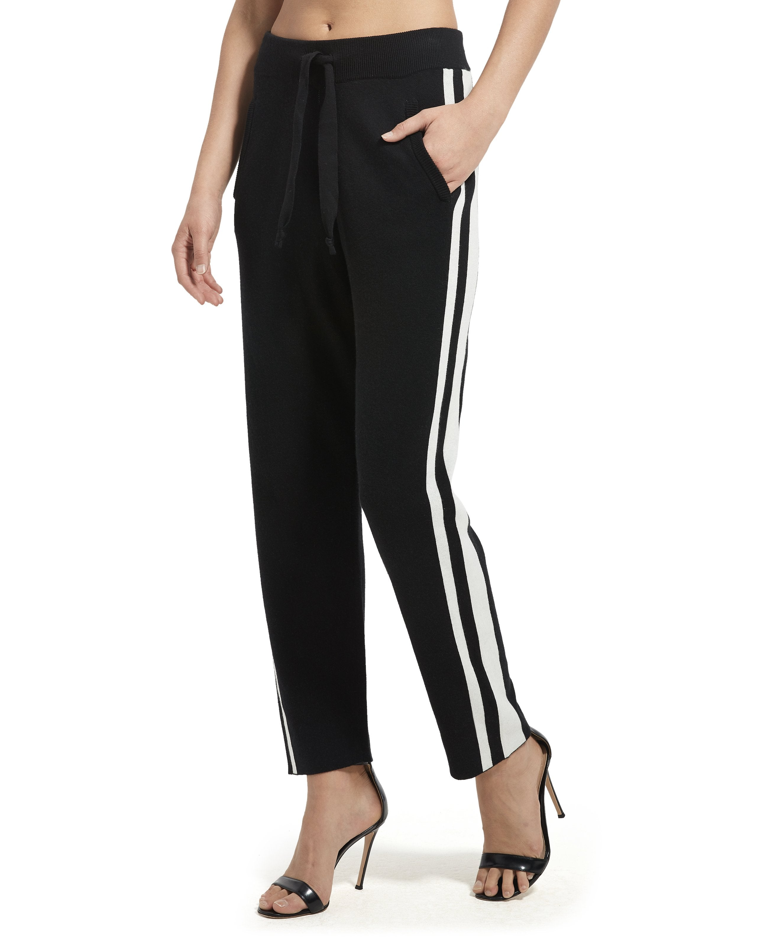 ATM Cashmere Blend Jacquard Stripe Sweater Pants