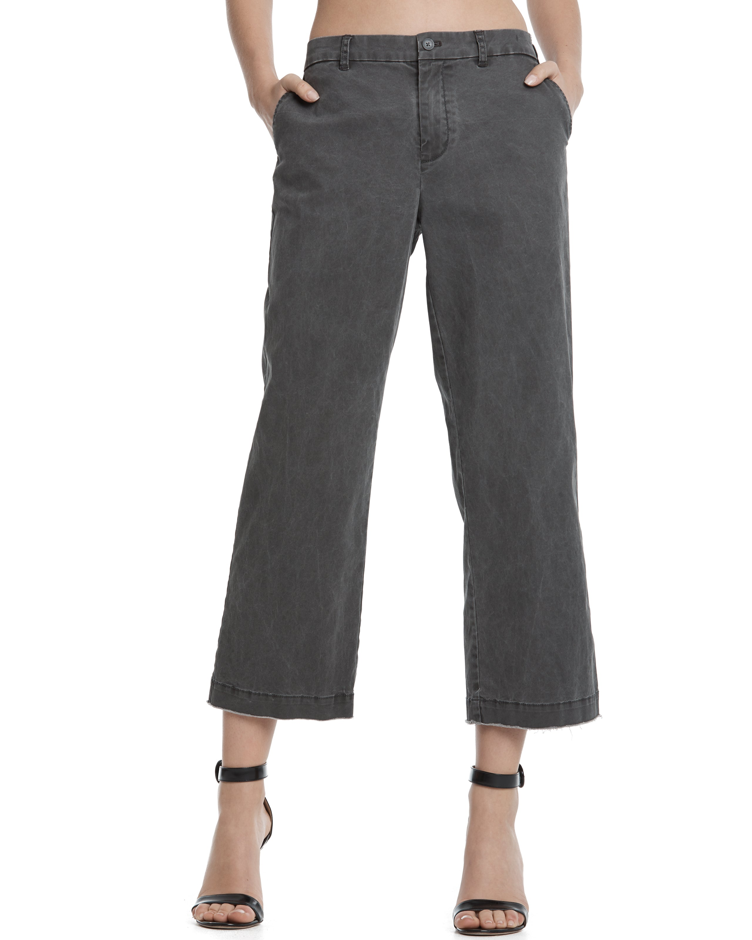 ATM Cropped Boyfriend Enzyme Wash Pant