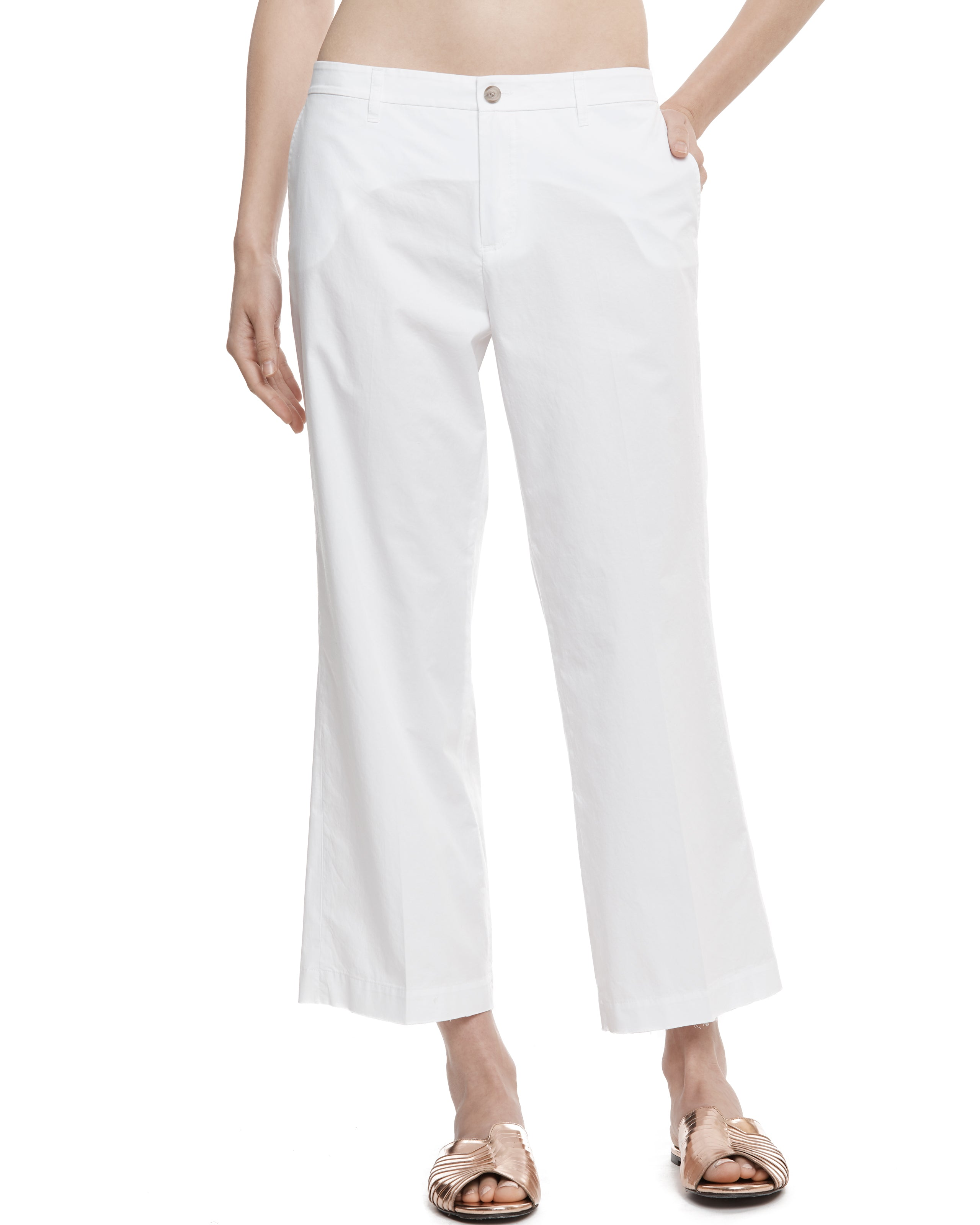 ATM Cotton Poplin Cropped Pants