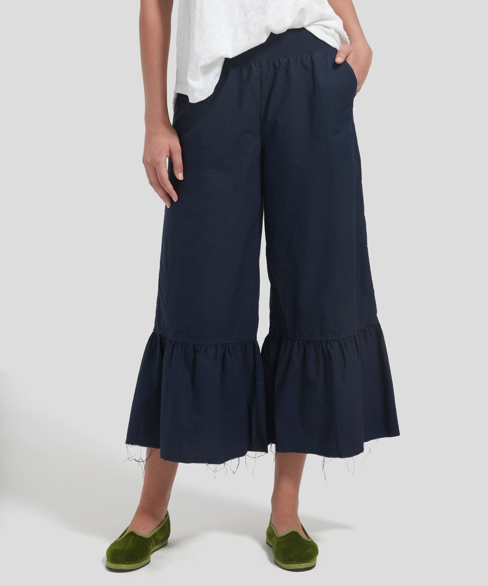 ATM Cotton Oxford Flared Pants