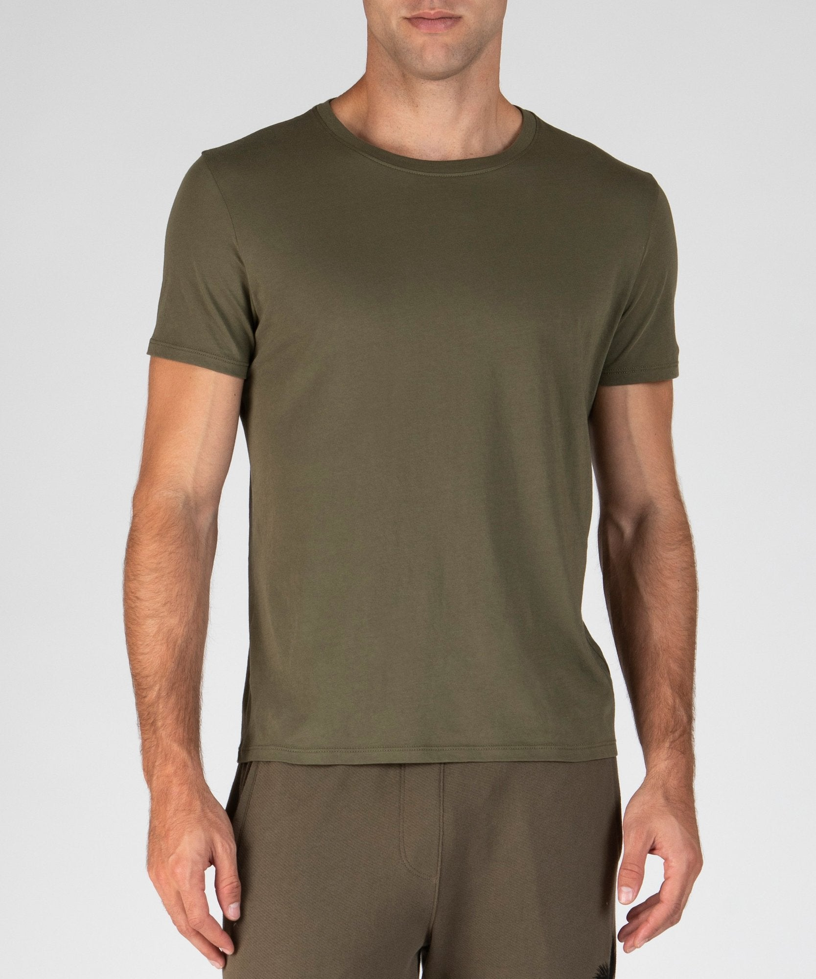 Army Classic Jersey Crew Neck Tee - Men's Cotton Short Sleeve Tee by ATM Anthony Thomas Melillo