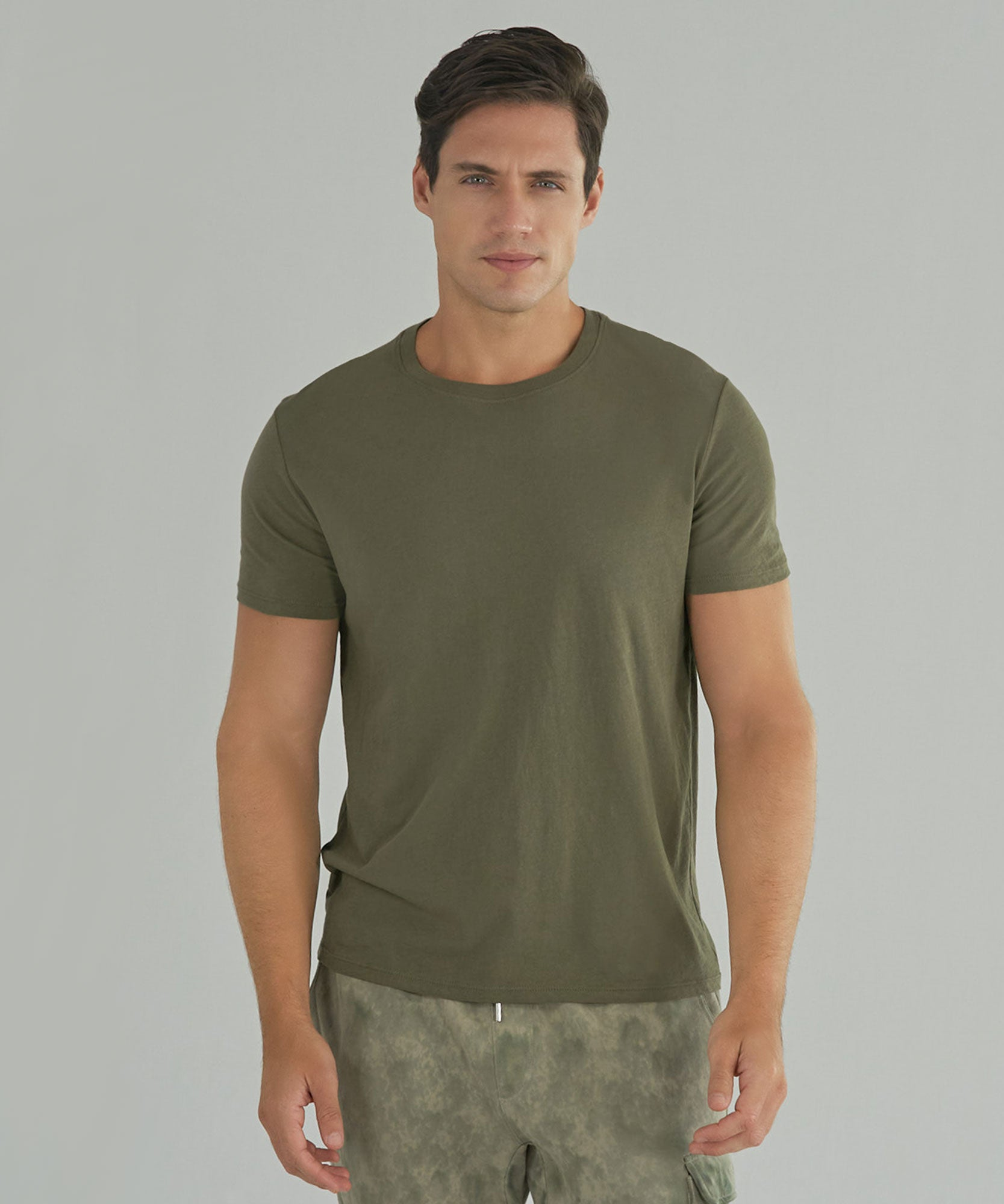 Army Classic Jersey Crew Neck Tee - Men's Short Sleeve T-shirt by ATM Anthony Thomas Melillo