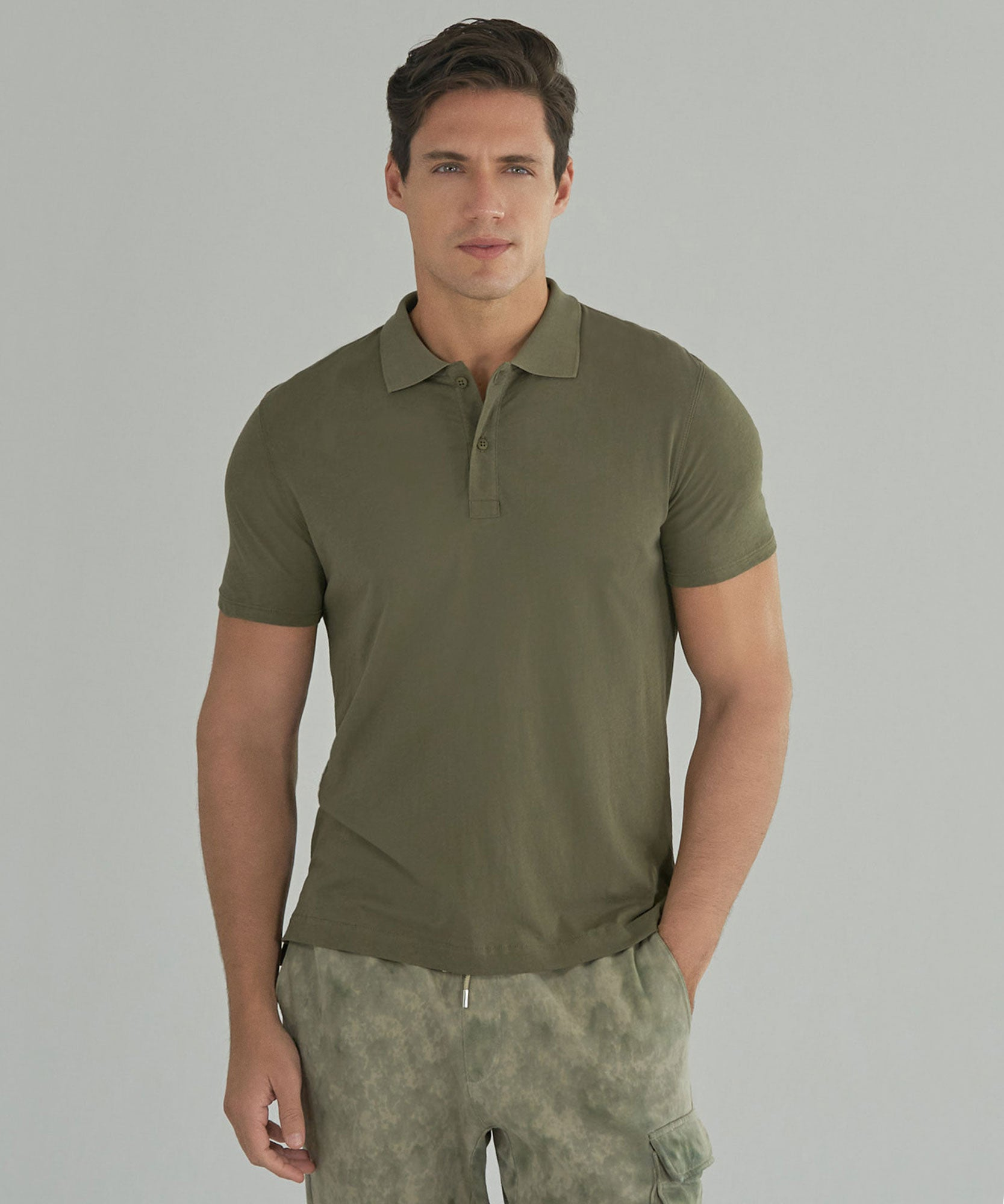 Army Classic Jersey Polo - Men's Short Sleeve Shirt by ATM Anthony Thomas Melillo