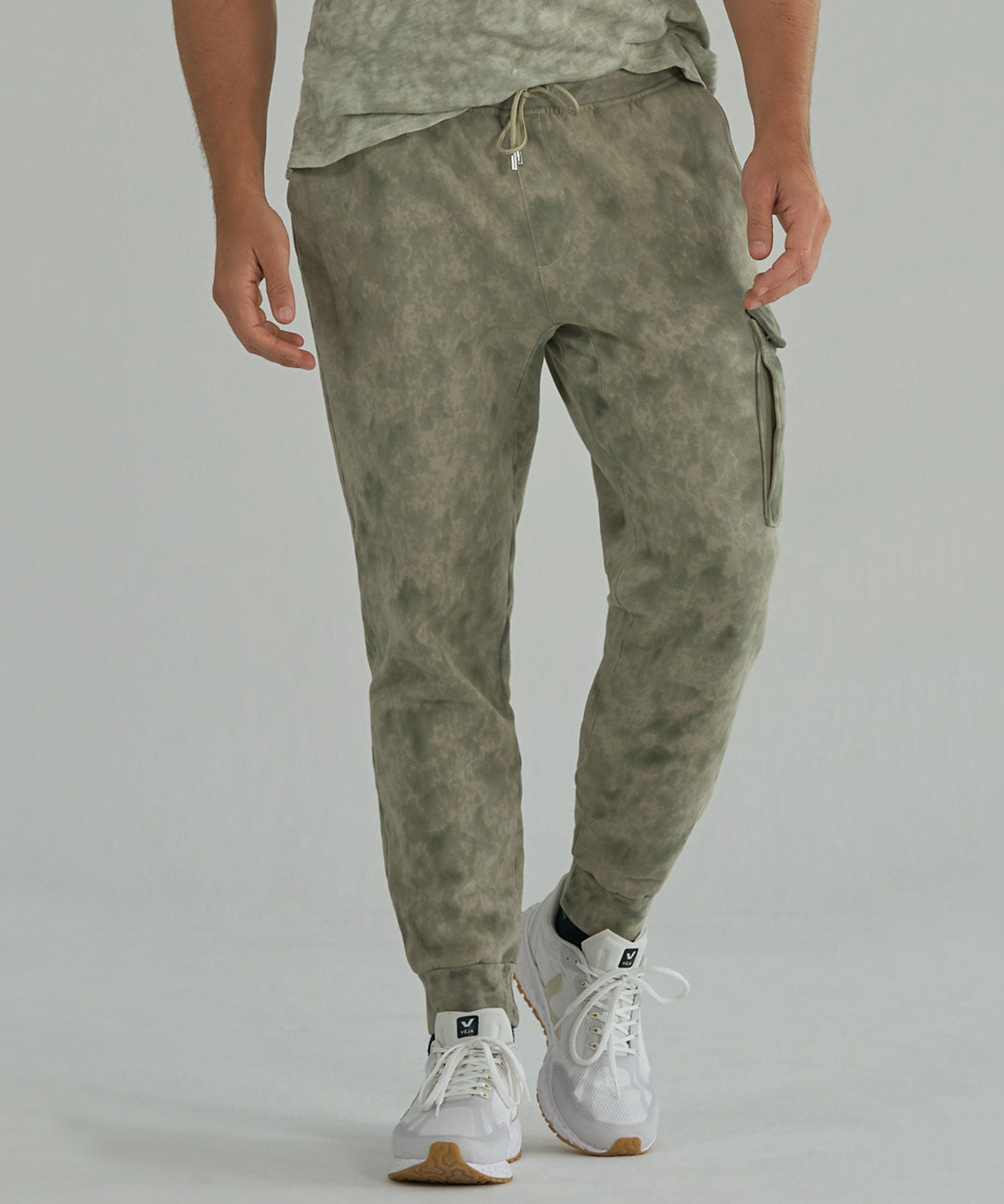 Army Combo French Terry Abstract Camo Fleece Sweatpants - Men's Luxe Loungewear by ATM Anthony Thomas Melillo