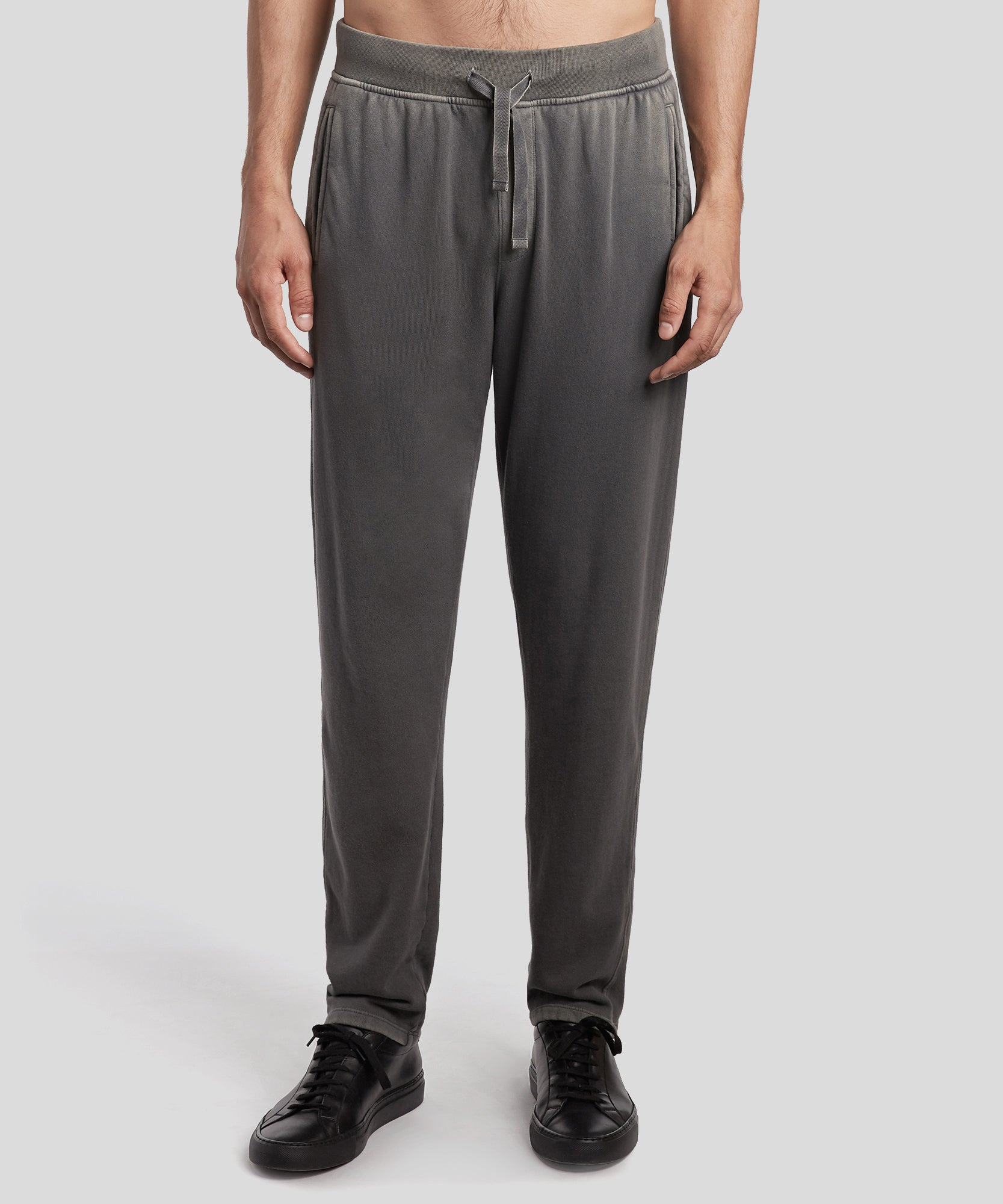 Asphalt Grey Felpa Pull-On Sweatpants - Men's Luxe Loungewear by ATM Anthony Thomas Melillo