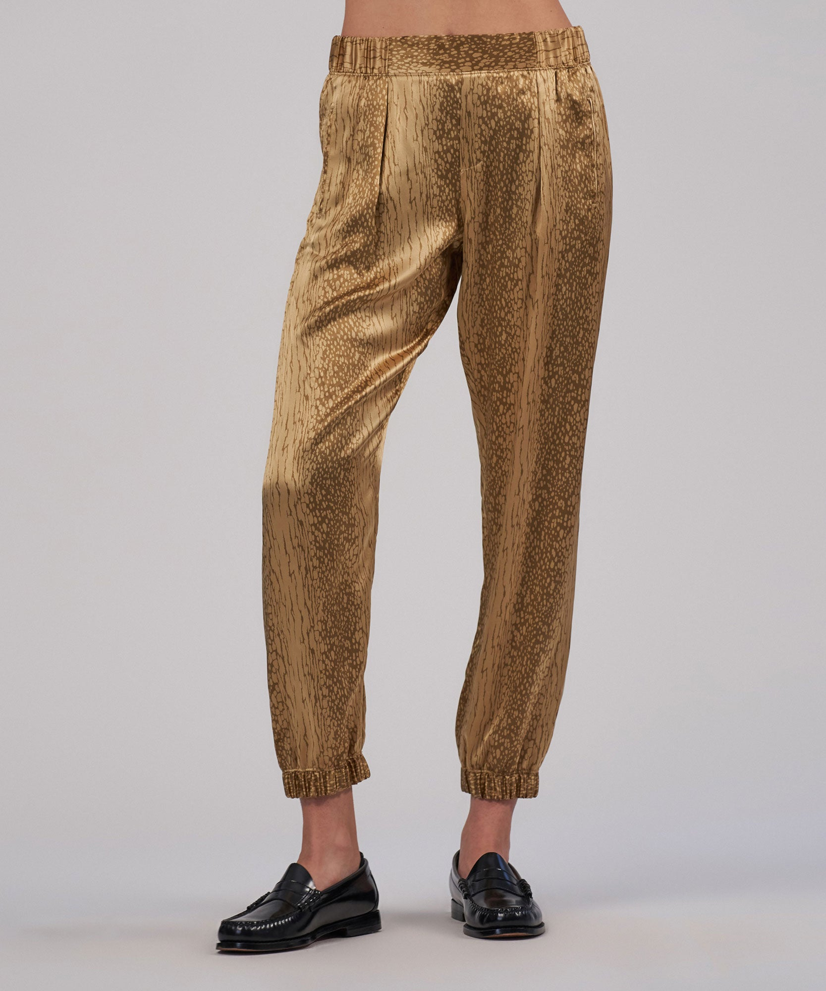 Balsa Cracked Paint Print Silk Pant - Women's Silk Pants by ATM Anthony Thomas Melillo