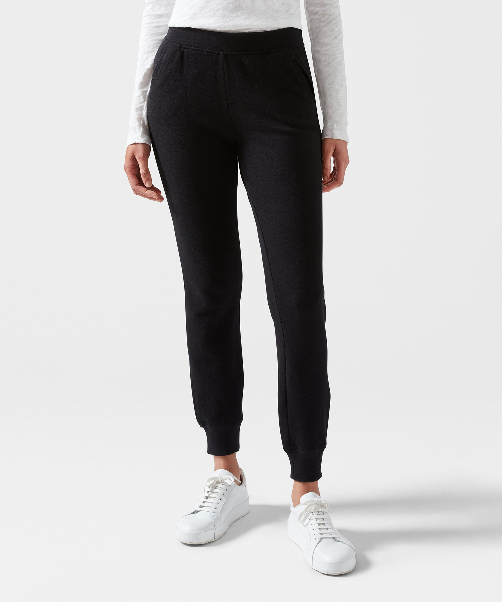 Black French Terry Sweatpants - Women's Luxe Loungewear by ATM Anthony Thomas Melillo
