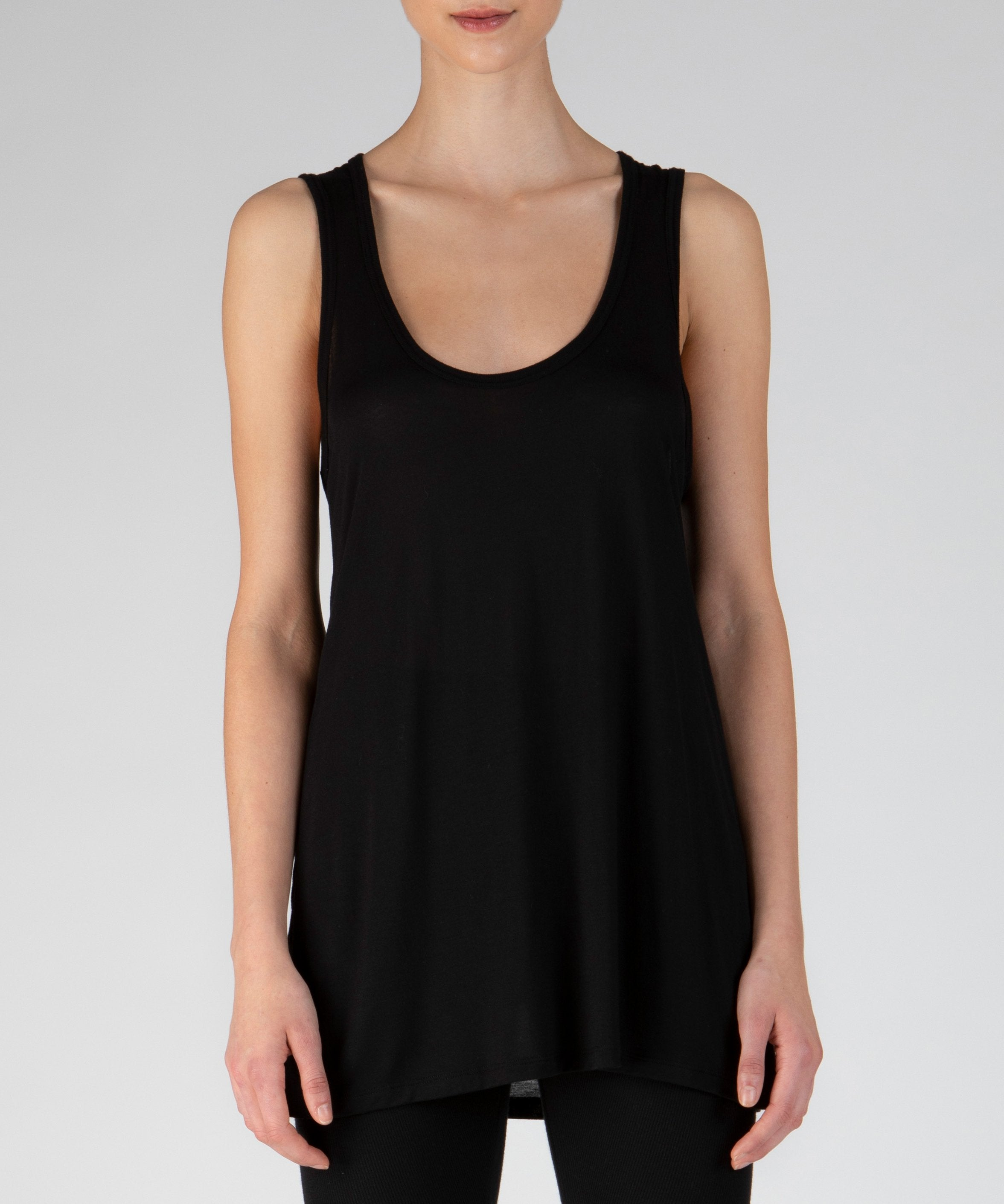 Black Modal Jersey Tank Top - Women's Jersey Tank Top by ATM Anthony Thomas Melillo