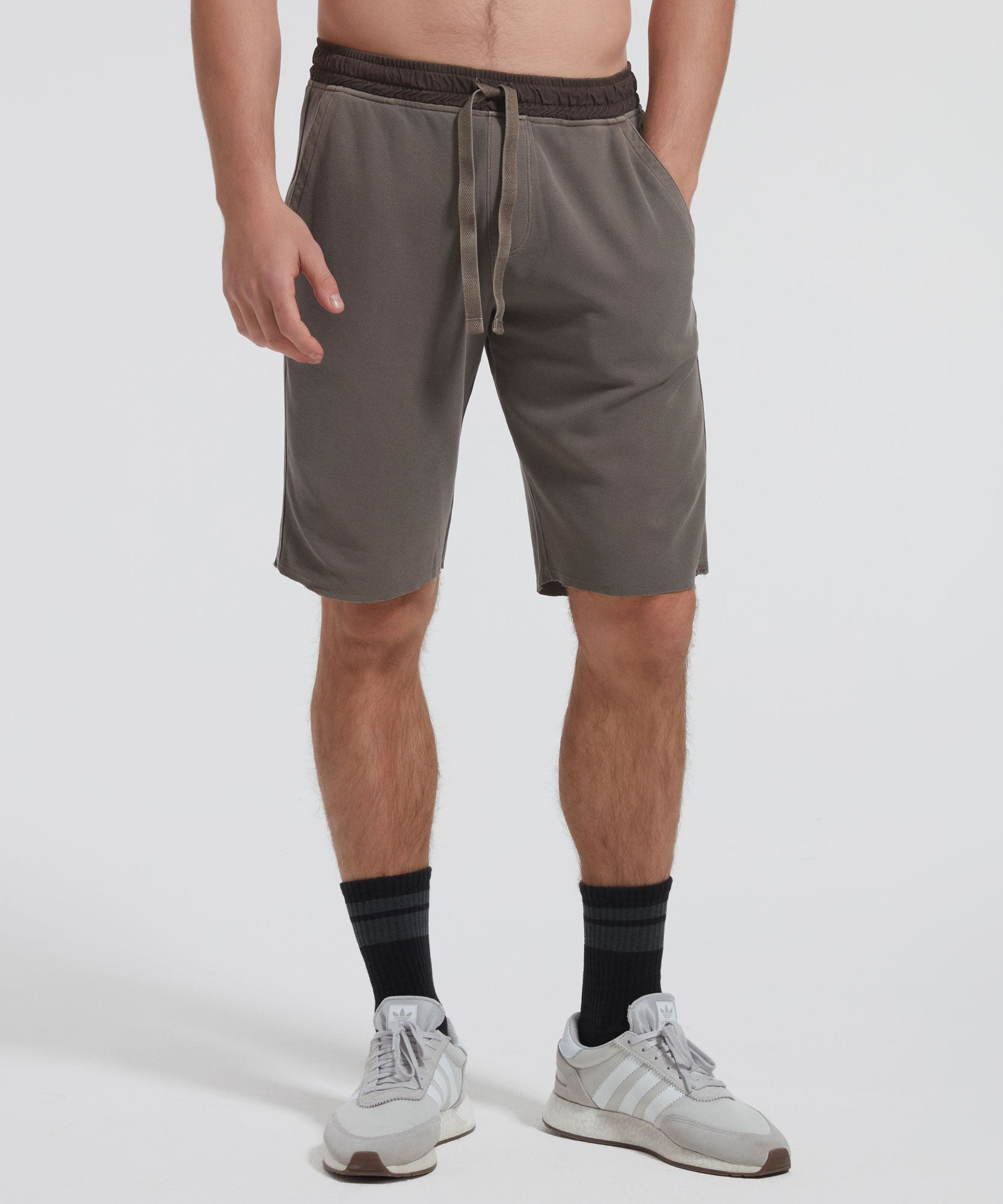Bungee Faded Pique Shorts - Men's Casual Shorts by ATM Anthony Thomas Melillo