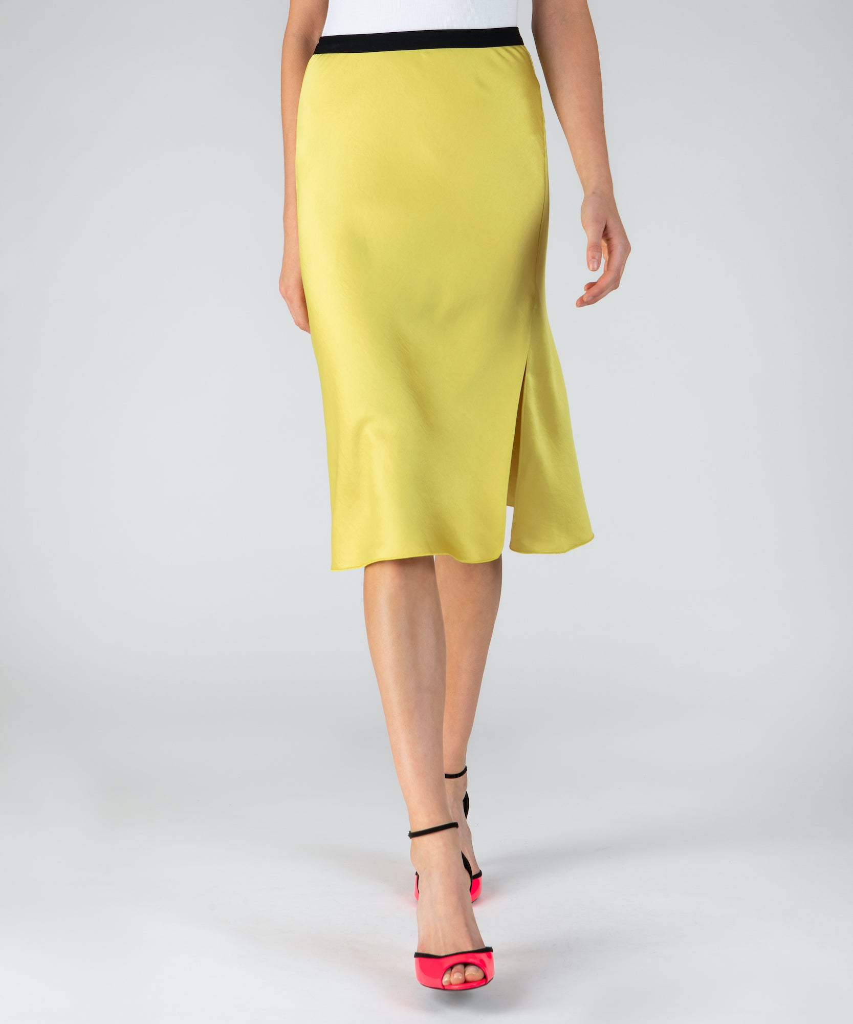 Canary Satin Crepe Skirt - Women's Skirt by ATM Anthony Thomas Melillo