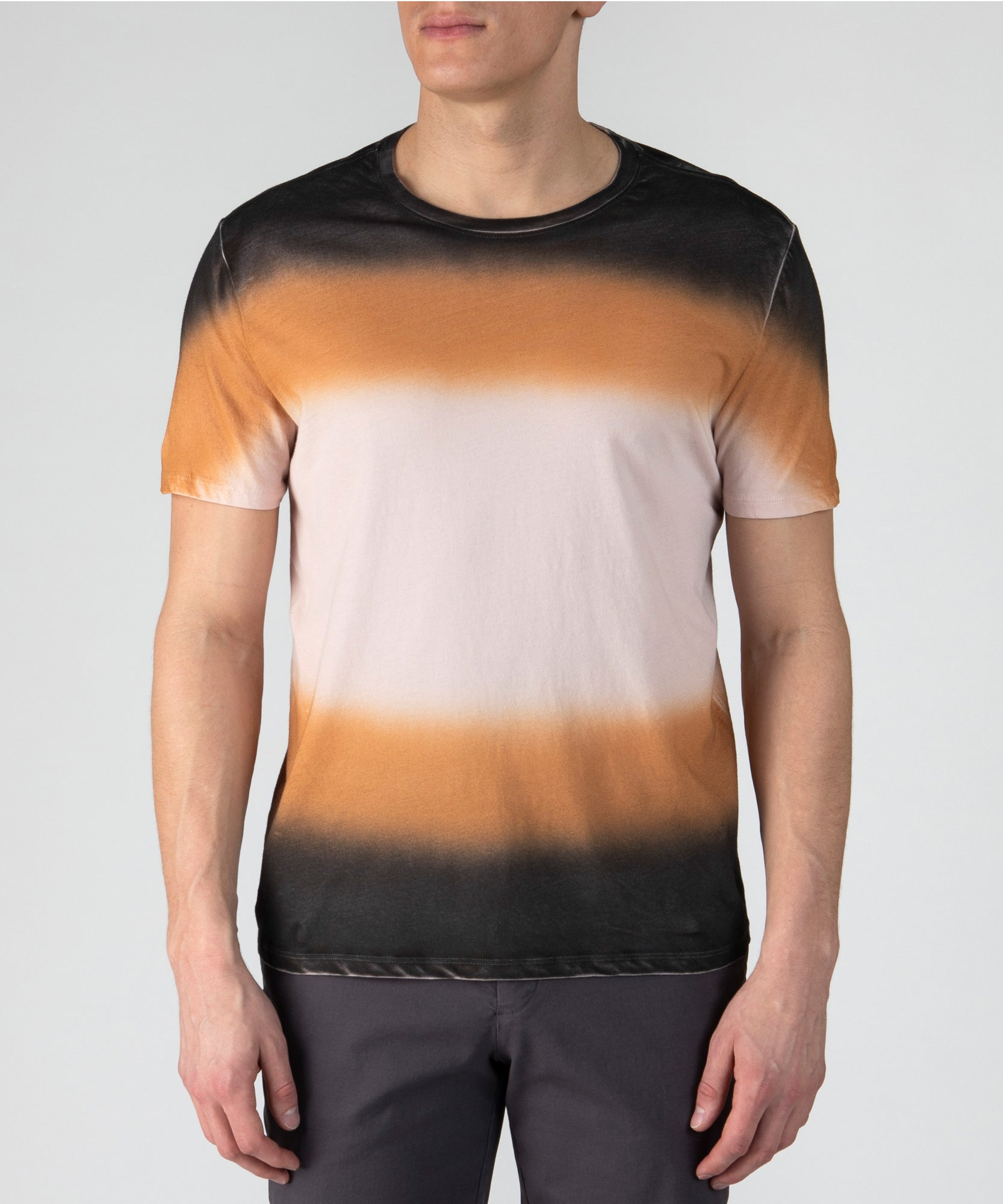 Classic Jersey Dip Dye Crew Neck Tee - Multi Color Combo- Men's Cotton Short Sleeve T-shirt by ATM Anthony Thomas Melillo