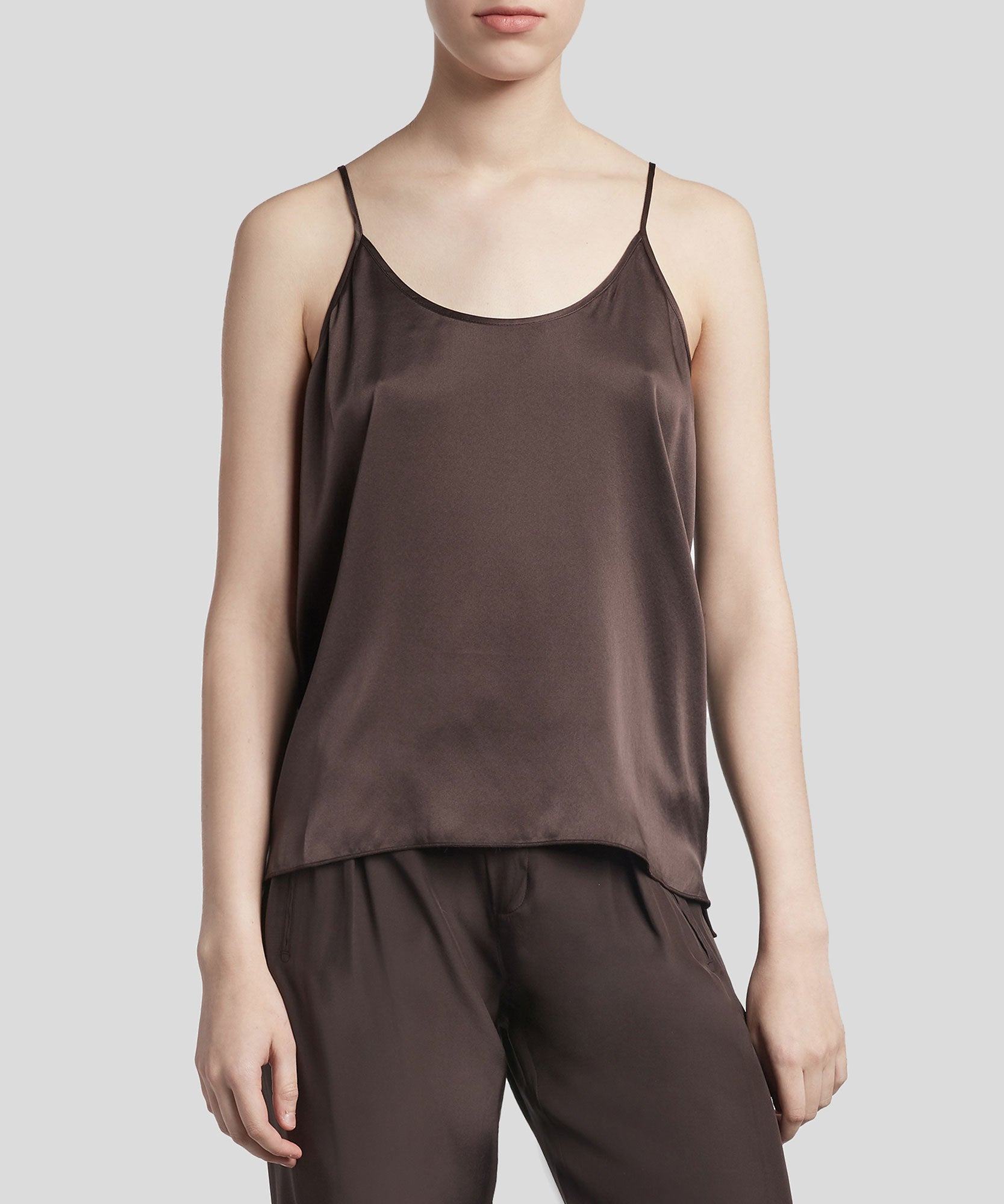 Dark Chocolate Silk Cami - Women's Silk Top by ATM Anthony Thomas Melillo