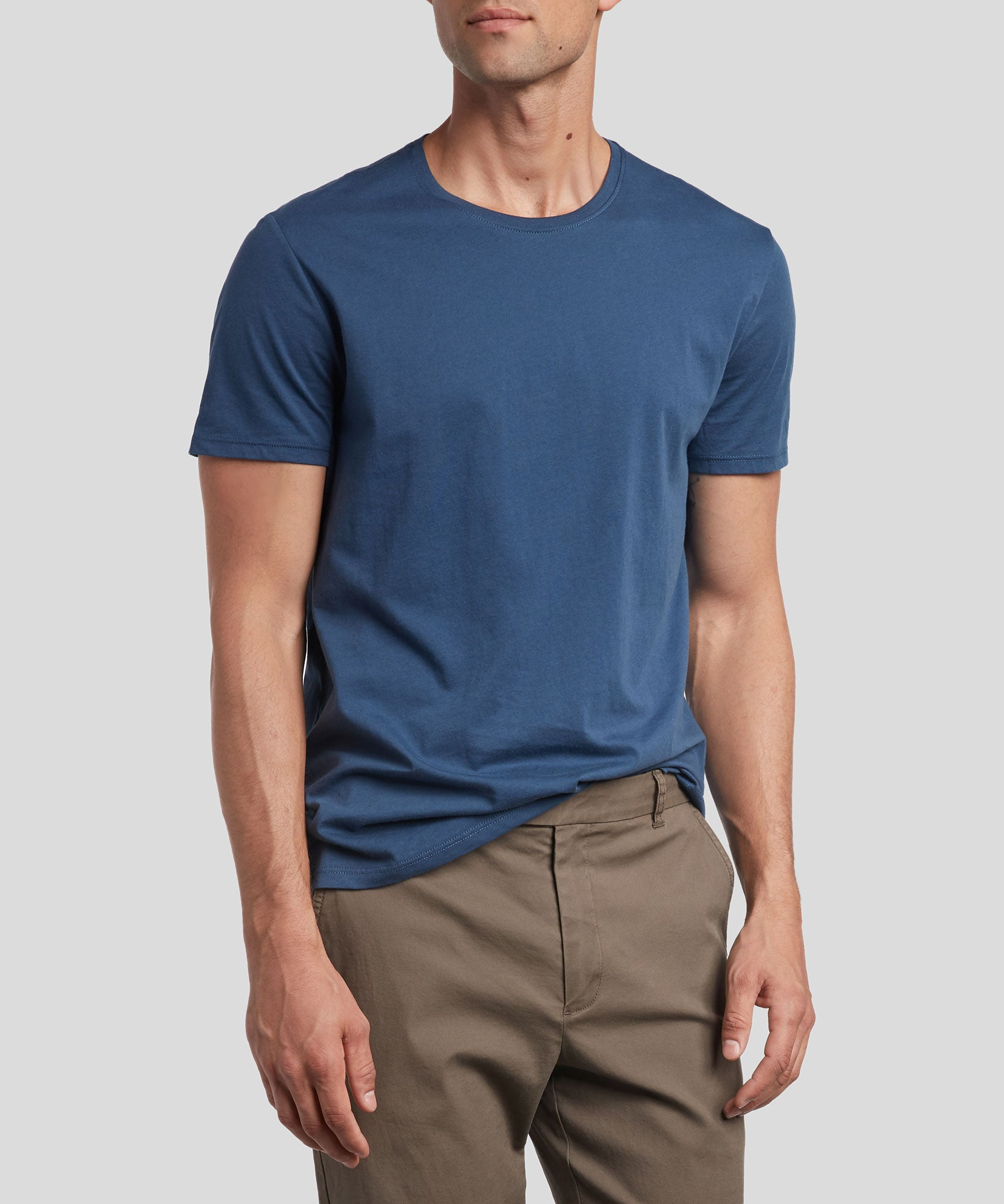 Deep Ocean Classic Jersey Crew Neck Tee - Men's Cotton Short Sleeve T-shirt by ATM Anthony Thomas Melillo