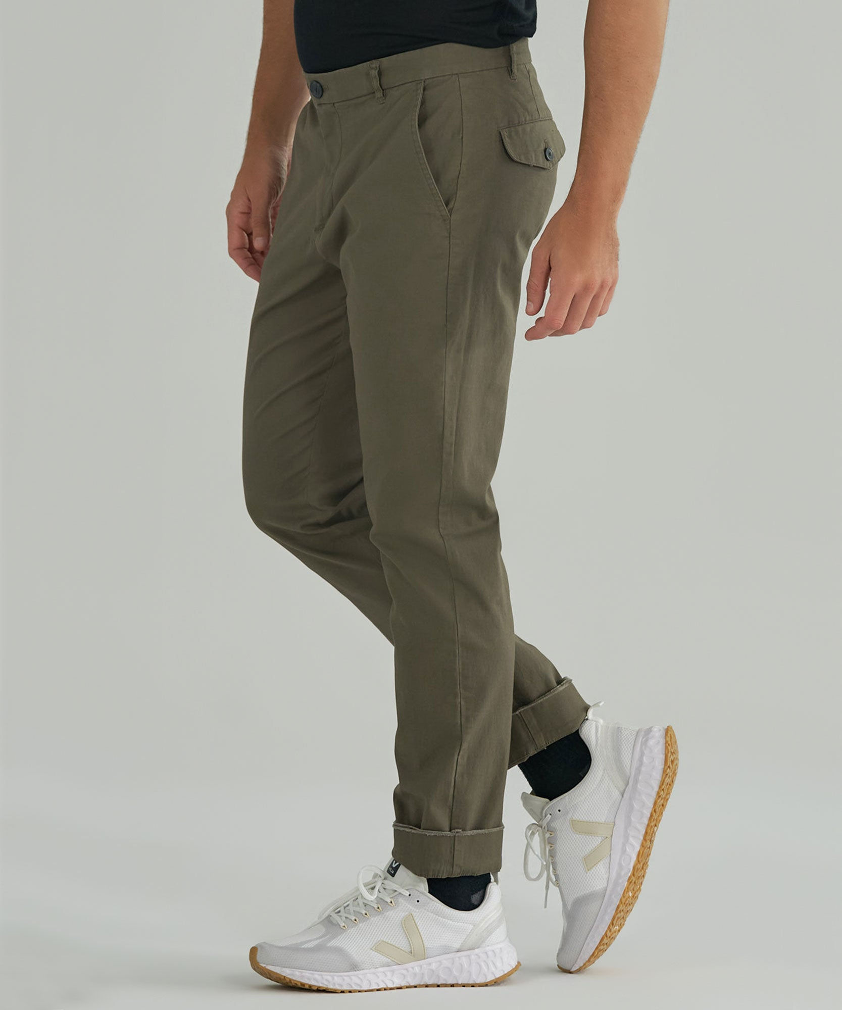 Army Stretch Cotton Garment Wash Slim Pants - Men's Casual Pants by ATM Anthony Thomas Melillo