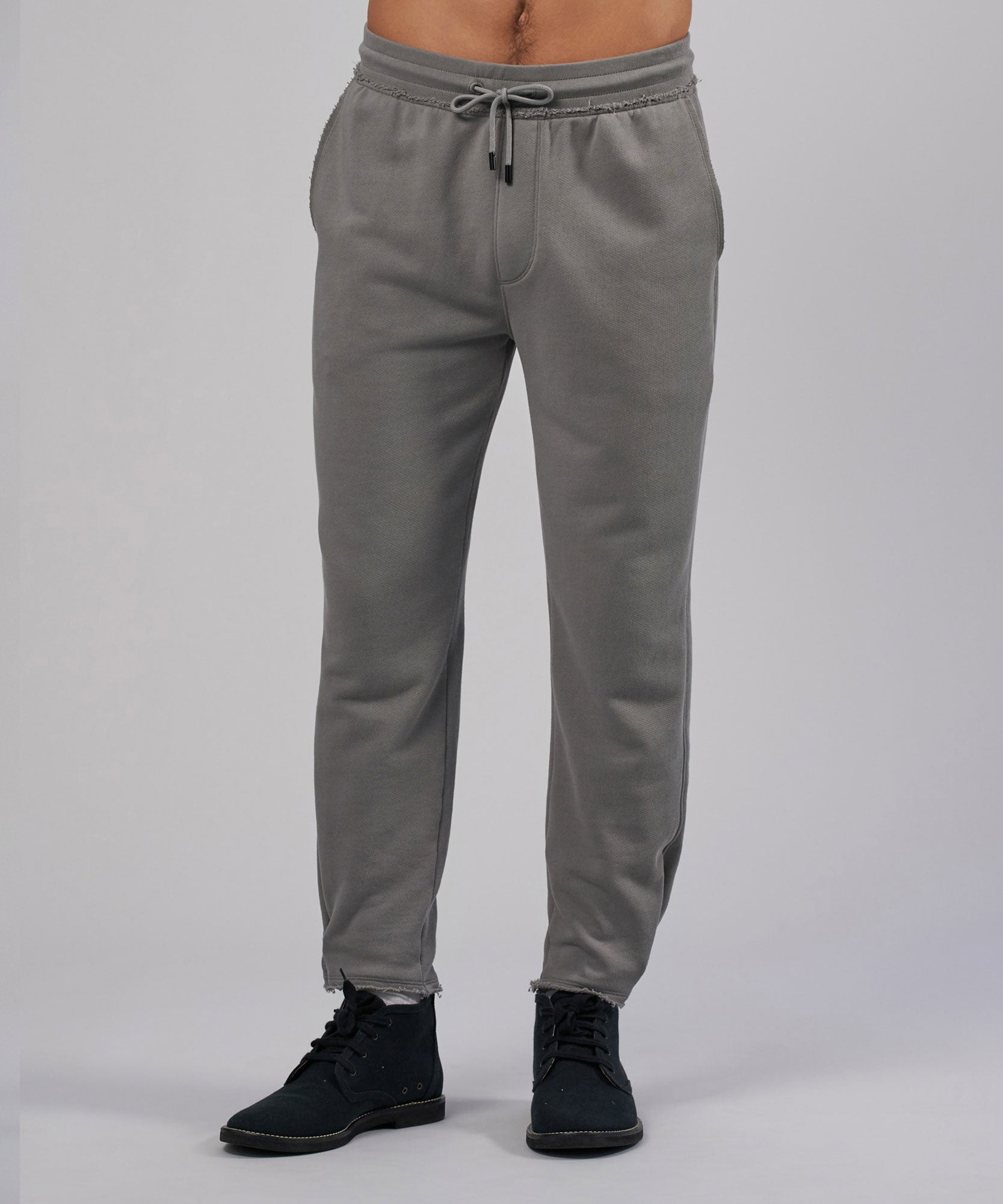 Fog French Terry Pull-On Pants - Men's Luxe Loungewear by ATM Anthony Thomas Melillo