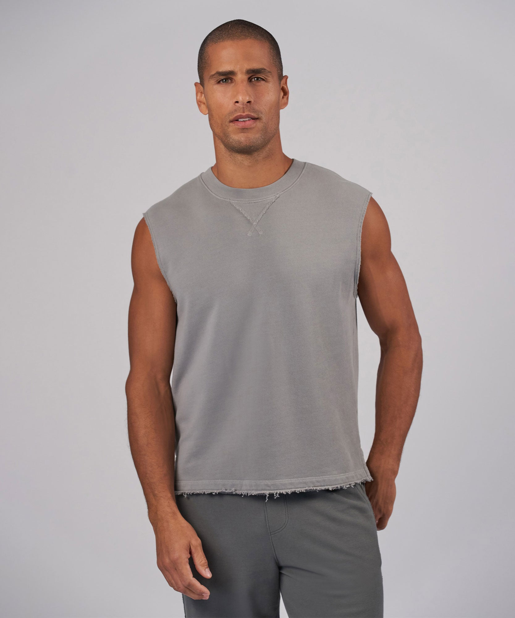 Fog French Terry Sleeveless Sweatshirt - Men's Sweatshirt by ATM Anthony Thomas Melillo
