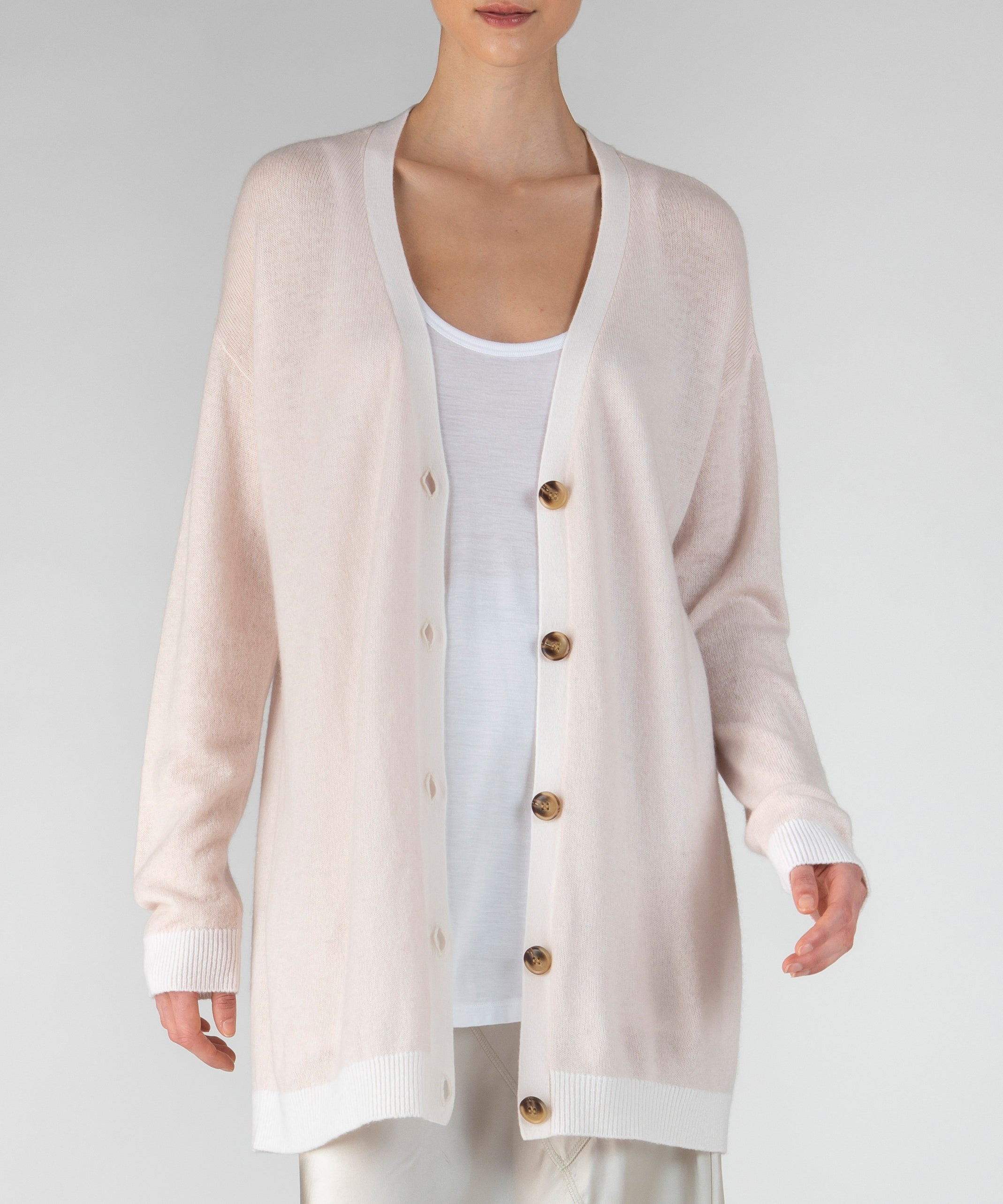 Fragrance Oversized Cashmere Cardigan - Women's Luxe Sweater by ATM Anthony Thomas Melillo